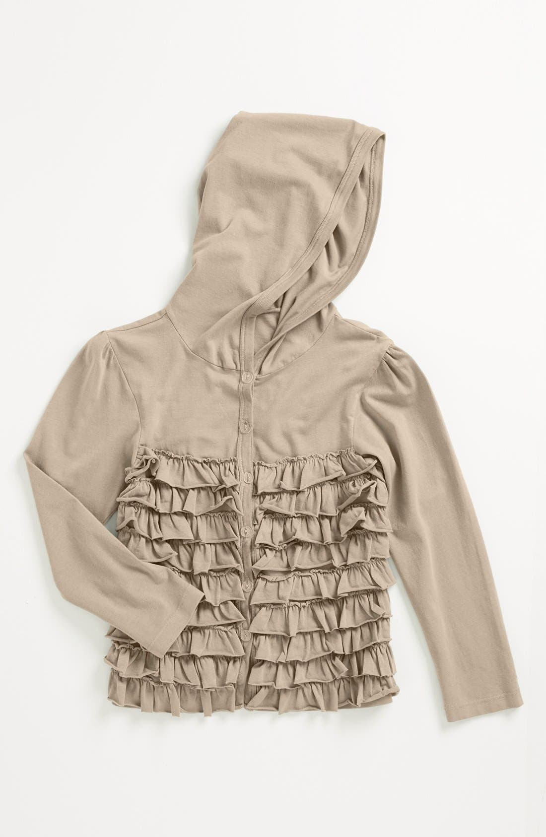 Alternate Image 1 Selected - Mignone Ruffle Hoodie (Little Girls)
