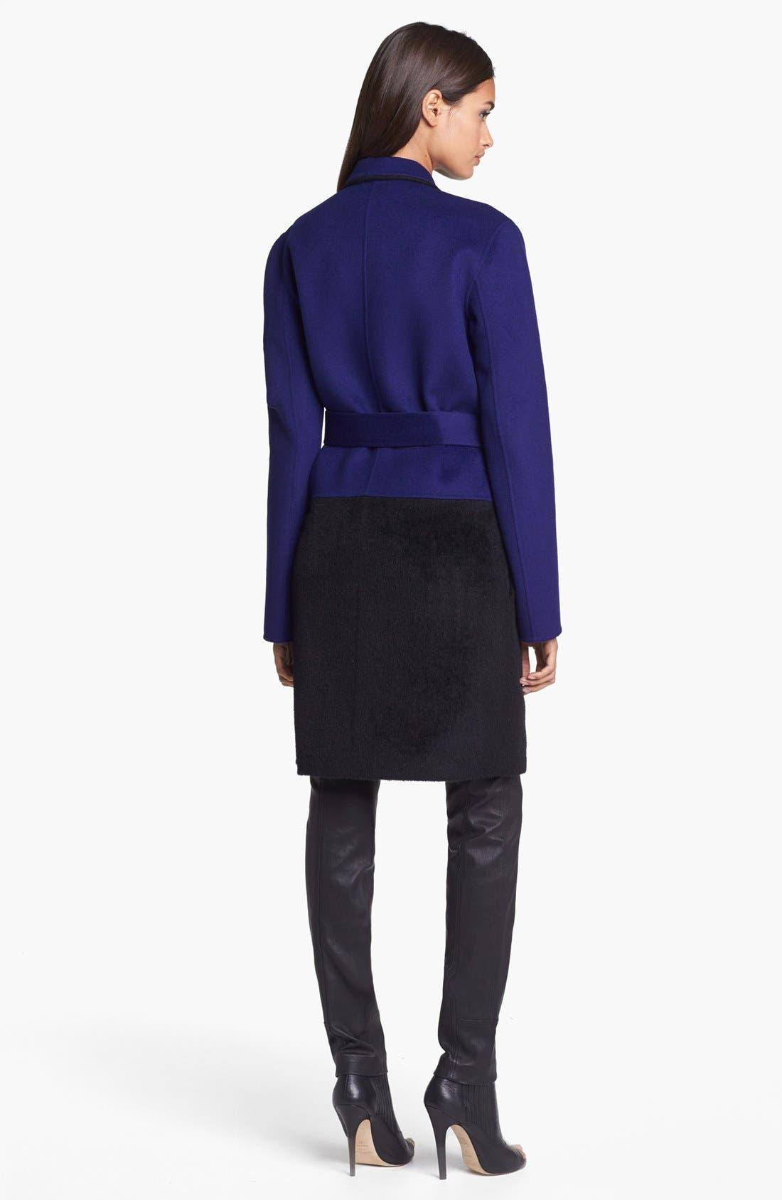 Alternate Image 4  - Diane von Furstenberg 'Logan' Colorblock Overcoat