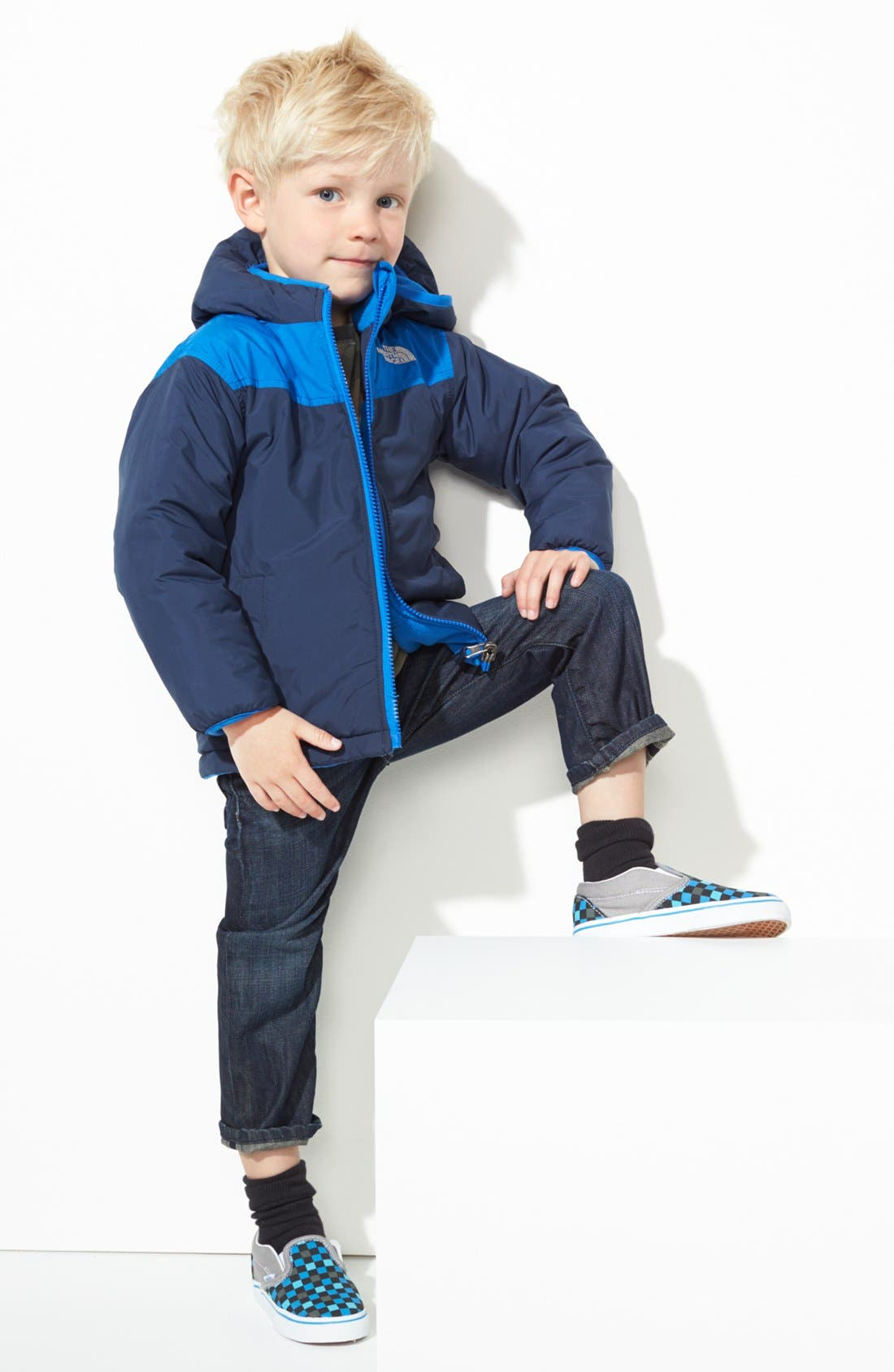 Alternate Image 1 Selected - The North Face Jacket & 7 For All Mankind® Jeans (Toddler Boys)