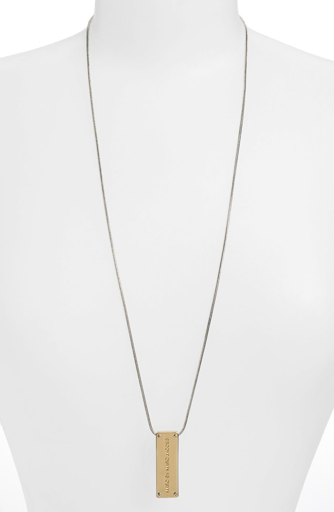 Alternate Image 2  - MARC BY MARC JACOBS 'New Plaque' ID Pendant Necklace