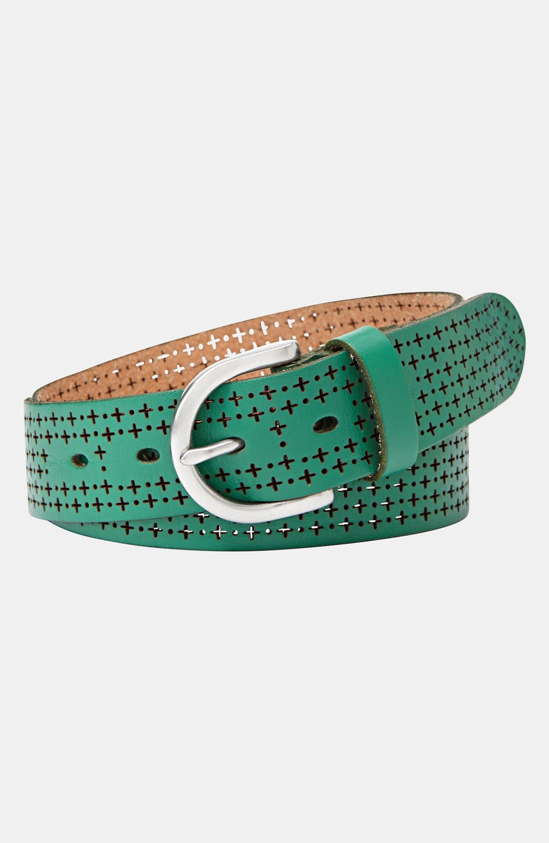 Alternate Image 1 Selected - Fossil Perforated Leather Belt
