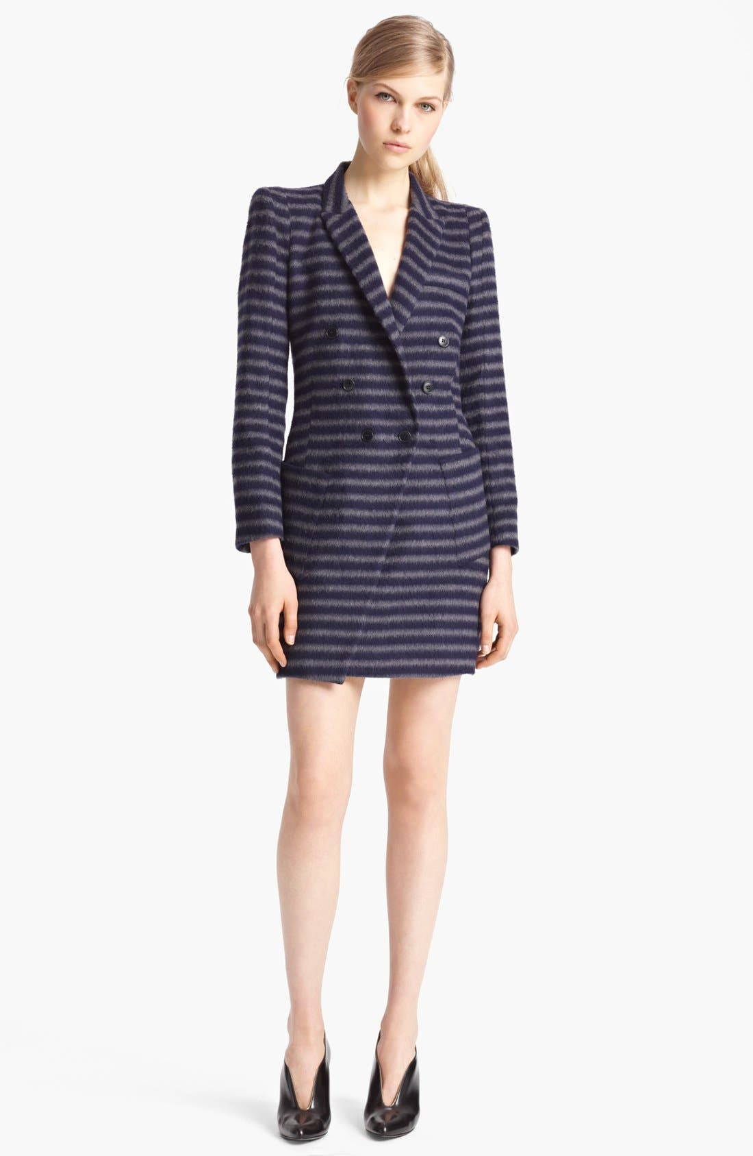 Alternate Image 1 Selected - Band of Outsiders Double Breasted Stripe Coat