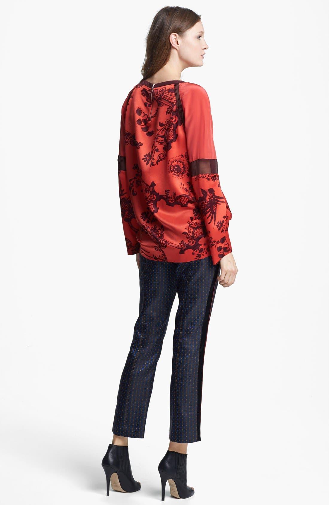 Alternate Image 5  - Elizabeth and James 'Nostrand' Print Silk Blouse