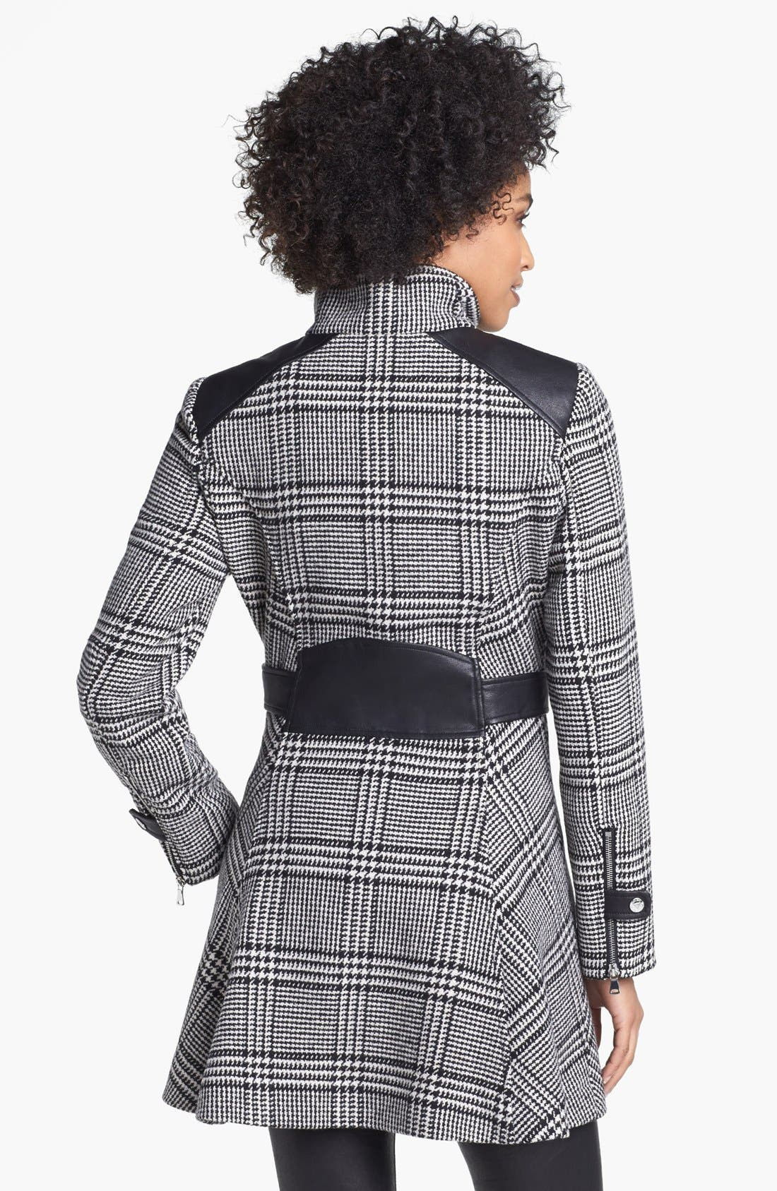 Alternate Image 2  - GUESS Houndstooth Plaid Coat