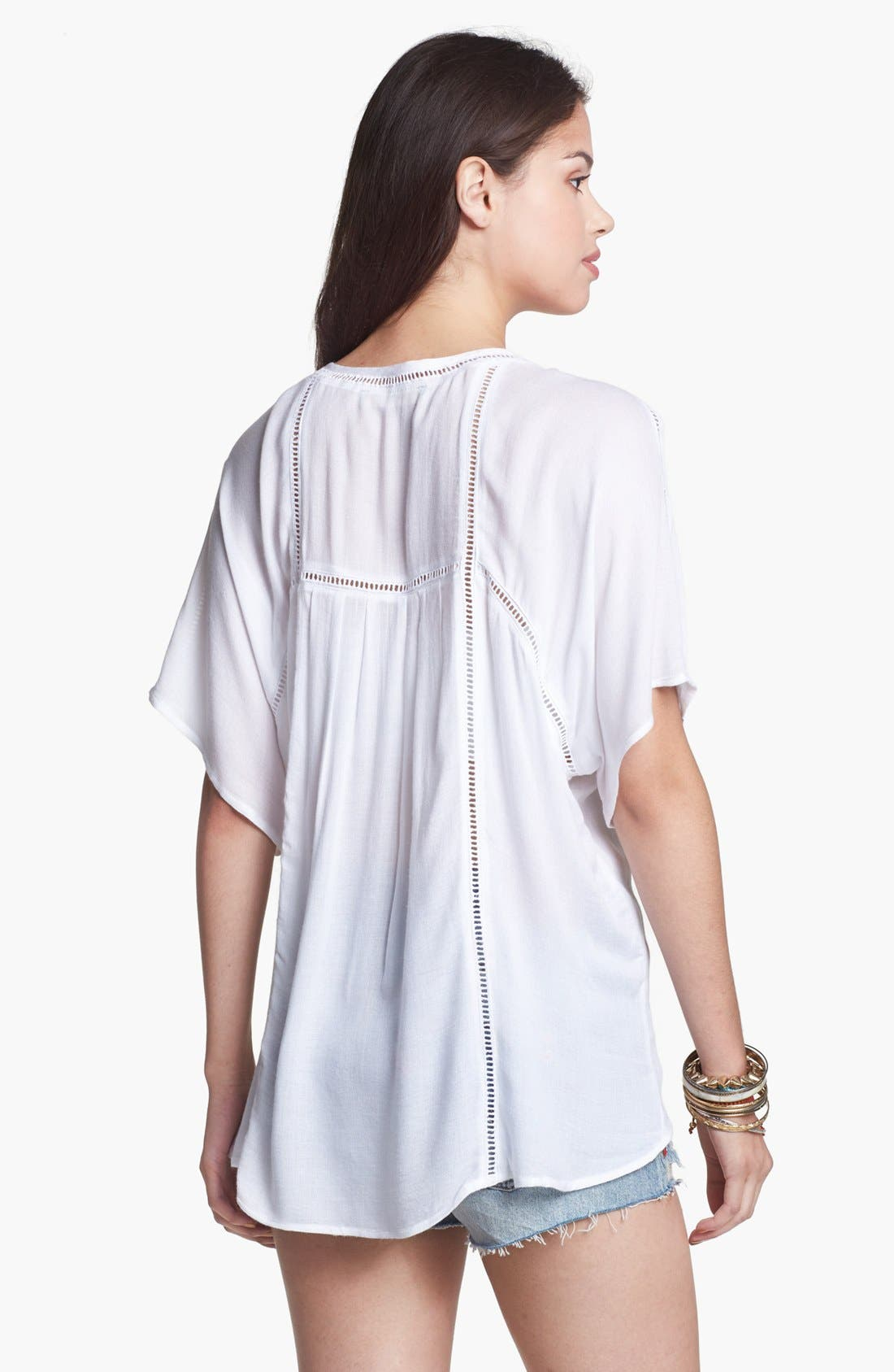 Alternate Image 2  - Haute Society Embroidered Cutout Top (Juniors)