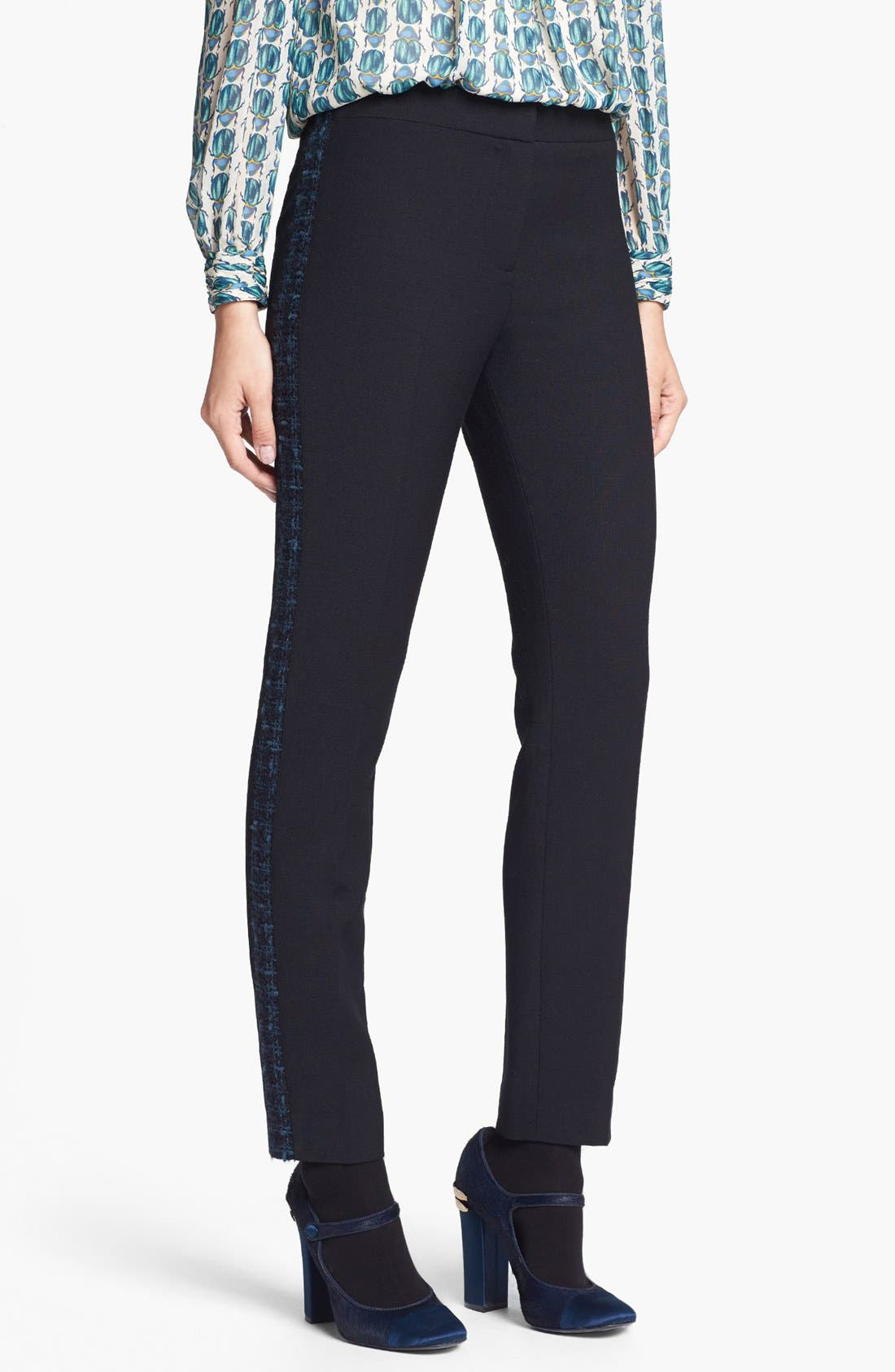 Main Image - Tory Burch 'Tobie' Stretch Tuxedo Pants