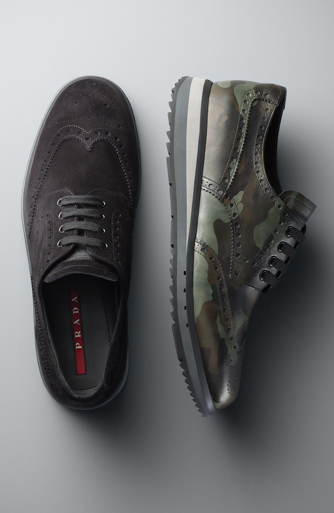 Alternate Image 5  - Prada Camo Wingtip Sneaker