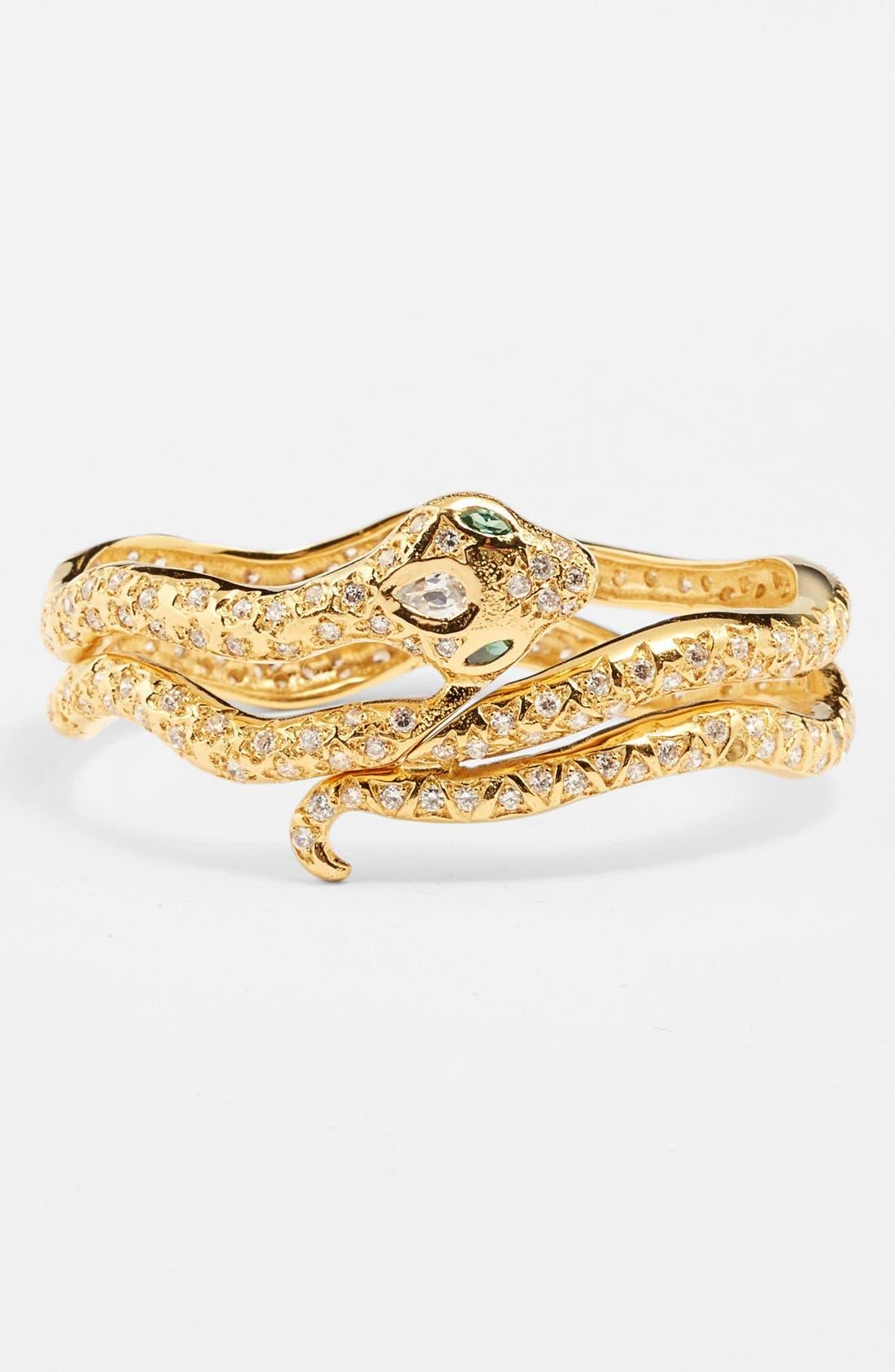 Alternate Image 1 Selected - Melinda Maria 'Serpent' Hinged Bracelet (Online Only)