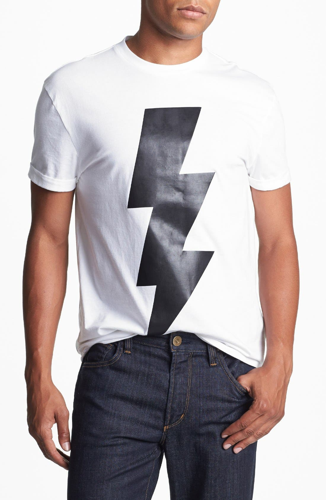 Alternate Image 1 Selected - Topman Bolt Graphic T-Shirt