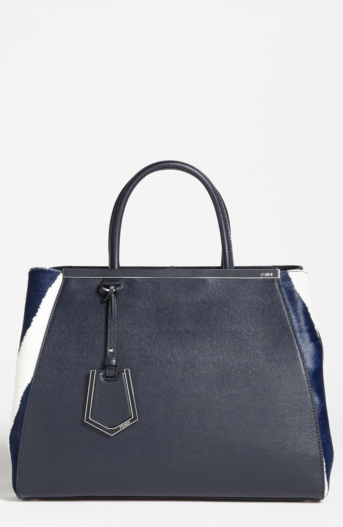 Main Image - Fendi '2Jours - Medium' Calf Hair Shopper