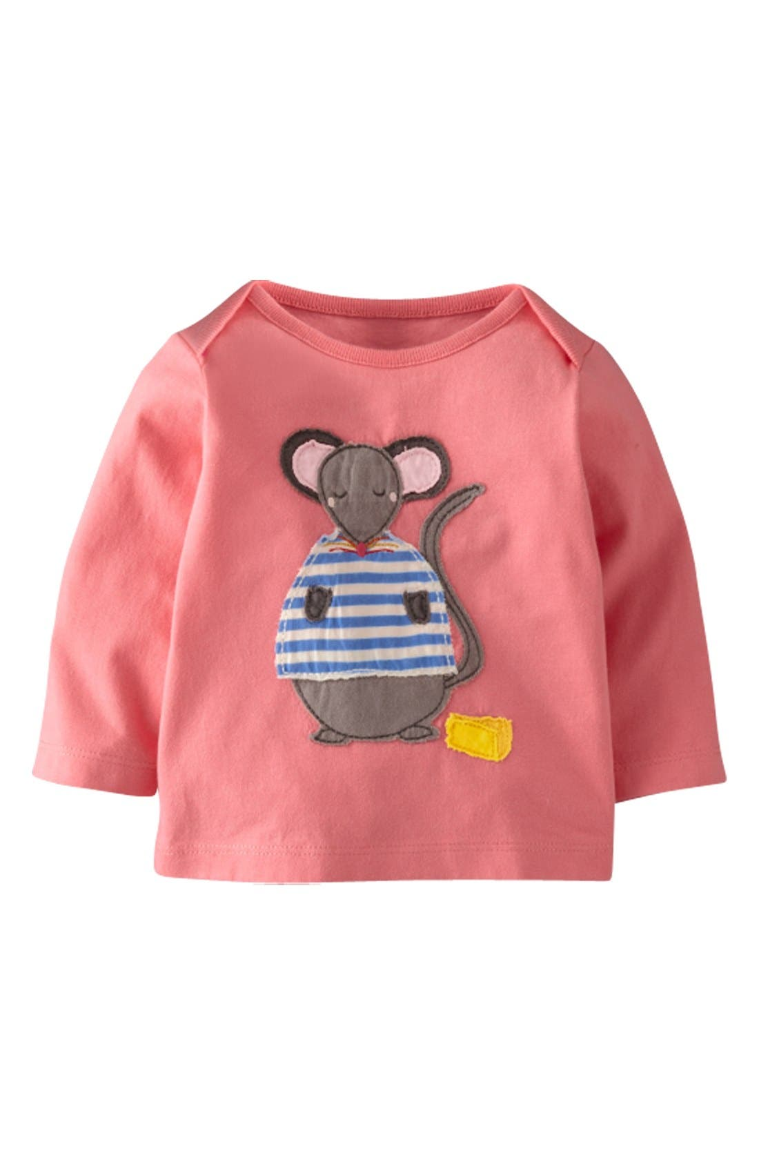 Main Image - Mini Boden Patchwork Appliqué Tee (Baby Girls)