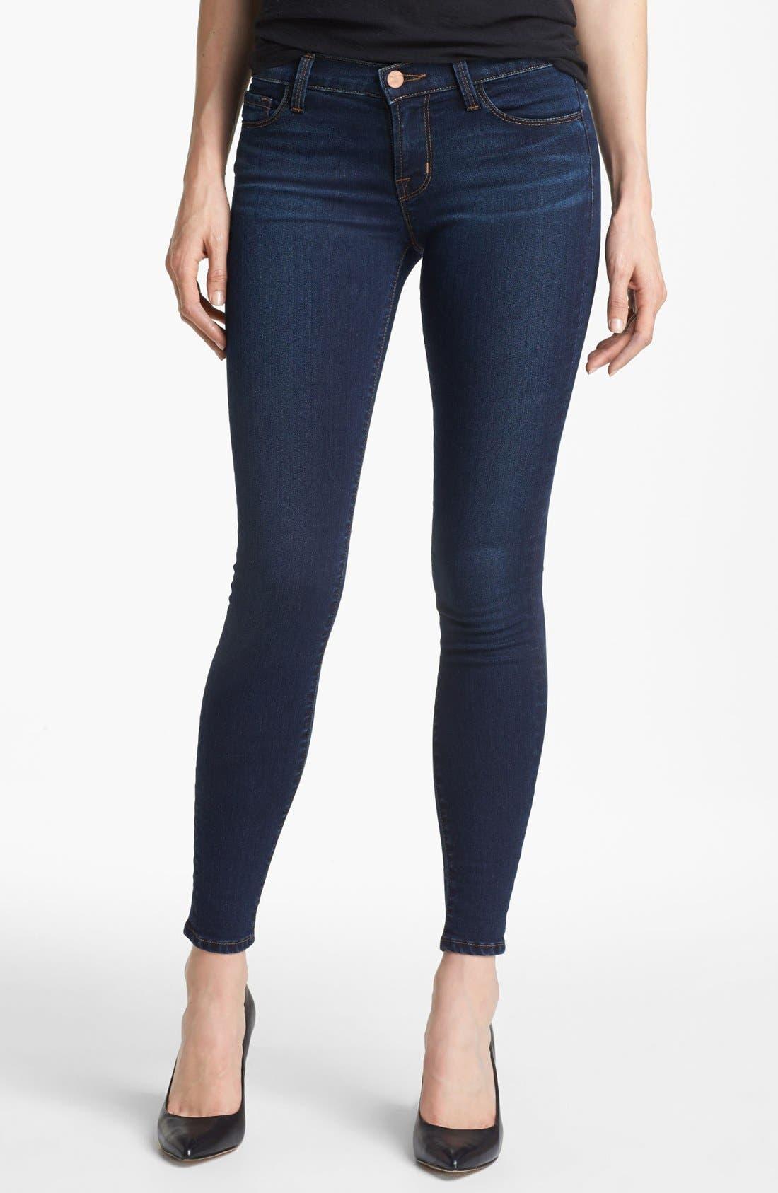 Alternate Image 1 Selected - J Brand '811' Skinny Stretch Jeans (Umber)
