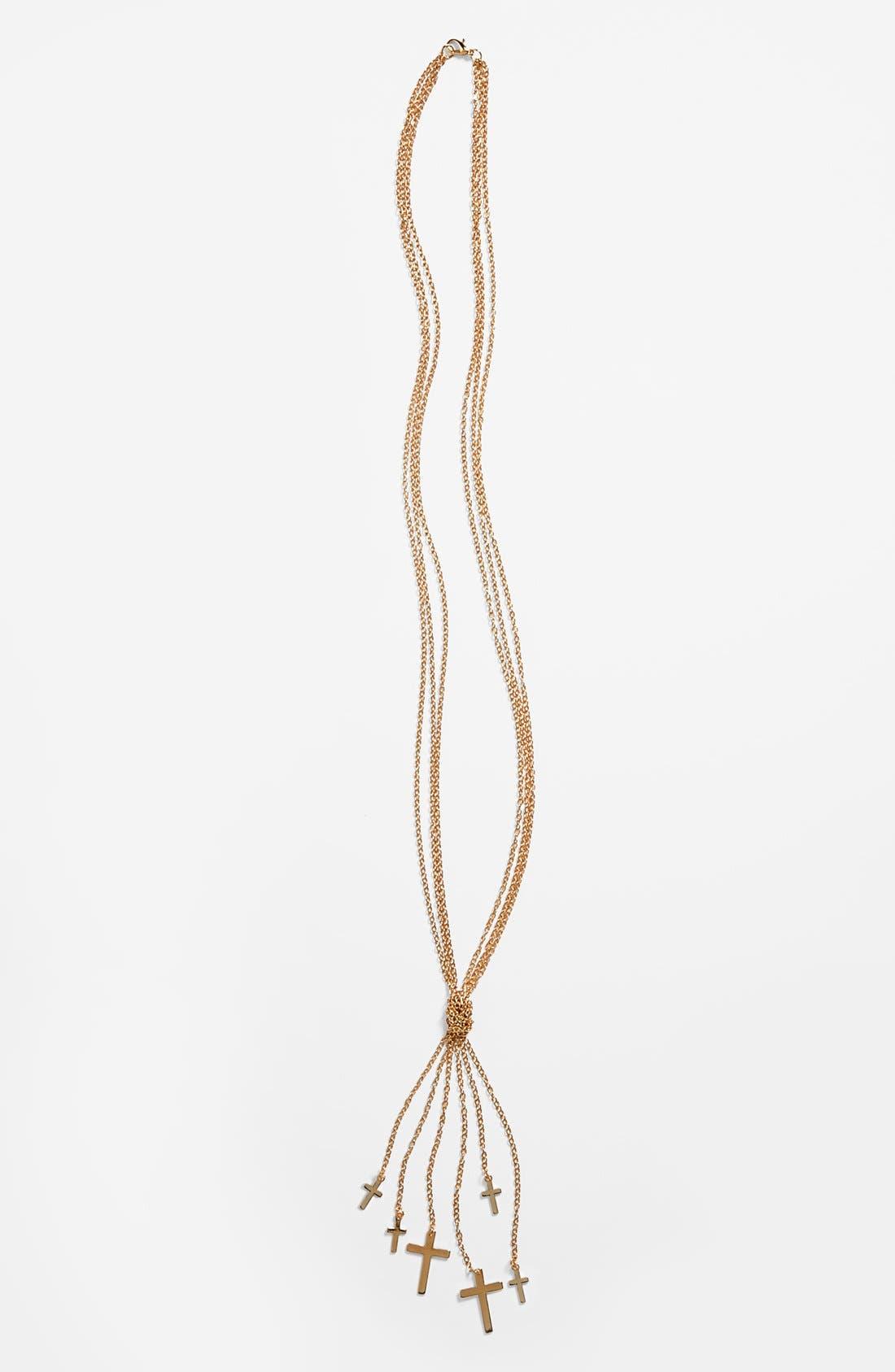 Alternate Image 1 Selected - Carole Multistrand Cross Necklace (Juniors)