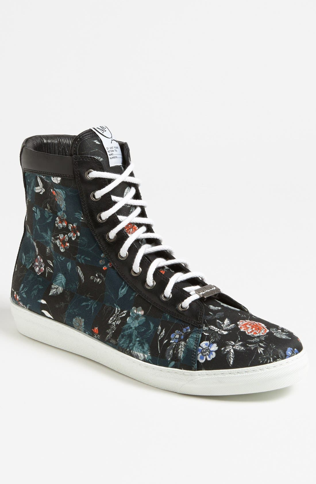 Main Image - McQ by Alexander McQueen Floral High Cut Sneaker