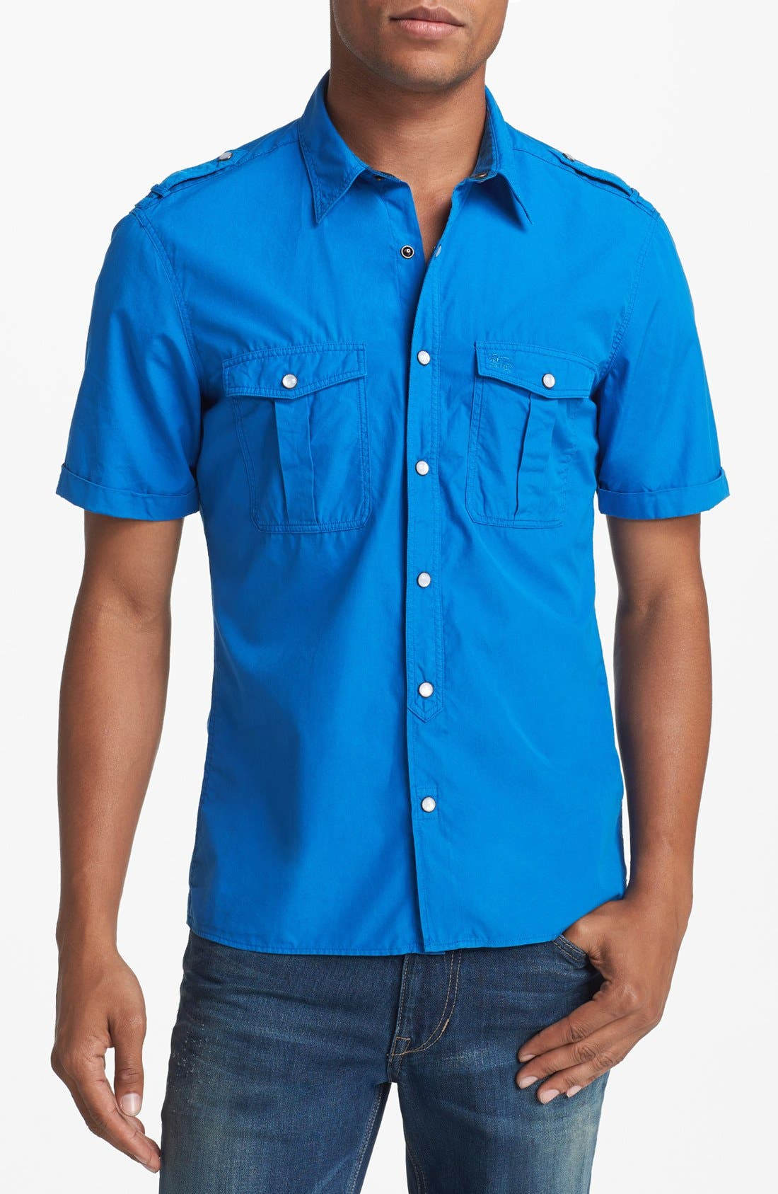 Alternate Image 1 Selected - Burberry Brit 'Keeling' Short Sleeve Sport Shirt