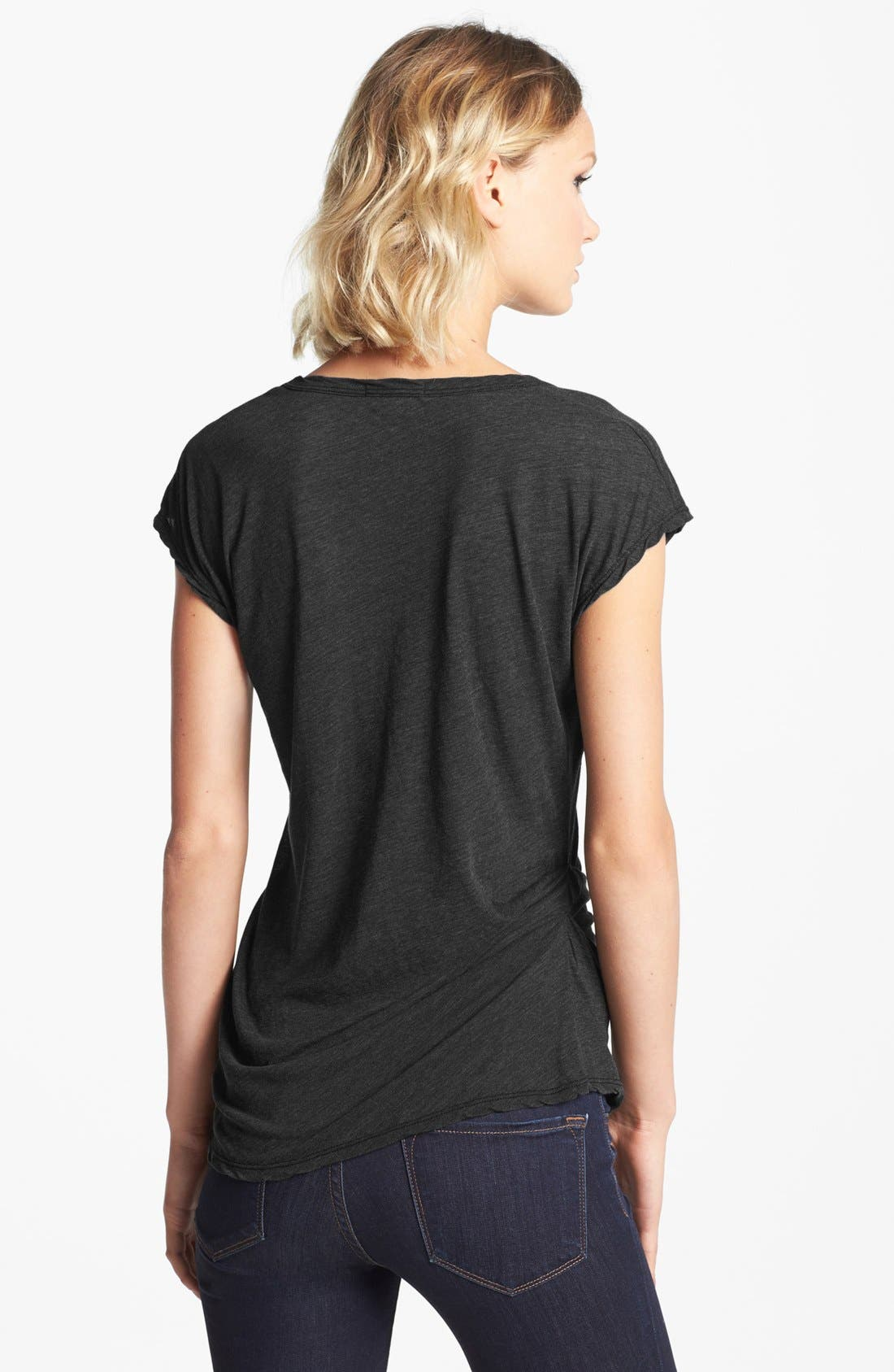 Alternate Image 2  - James Perse Asymmetrical Tuck Tee