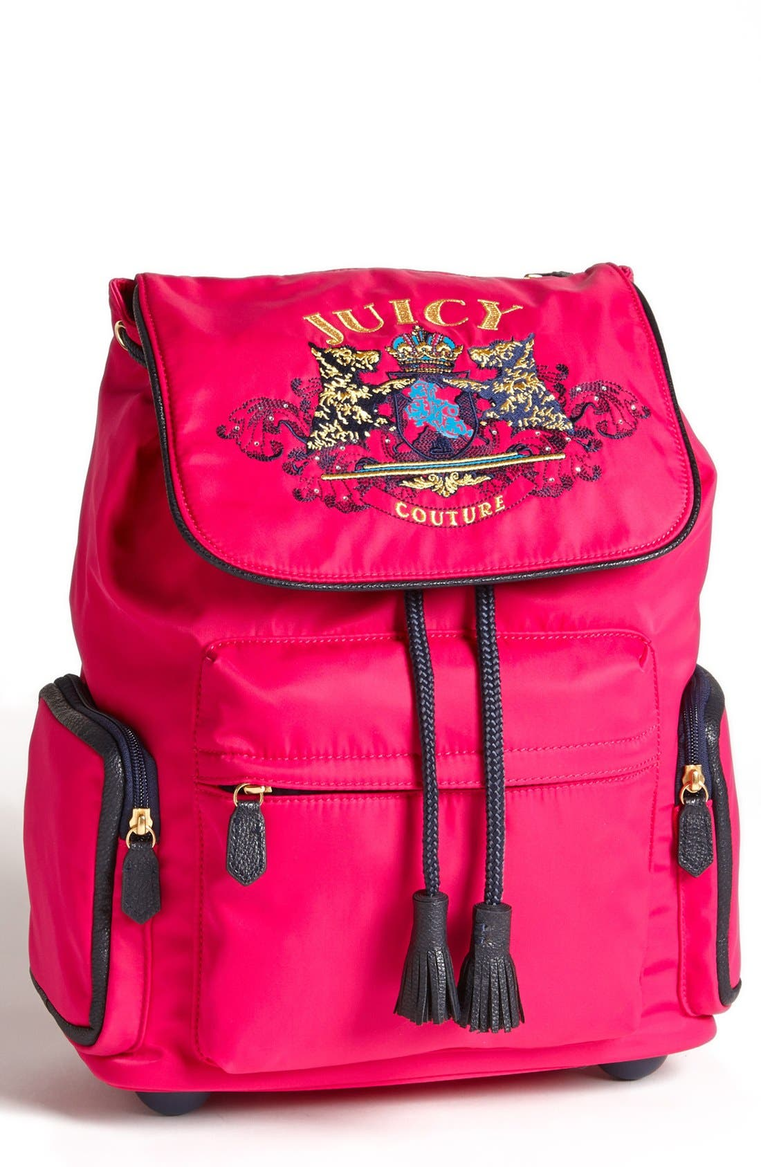 Main Image - Juicy Couture 'Billie' Wheeled Backpack (Girls)