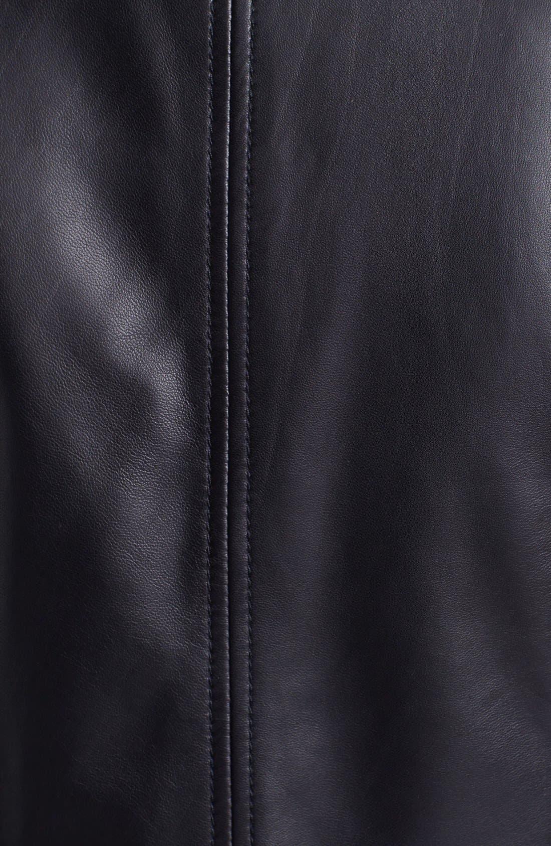 Alternate Image 3  - Halogen® Asymmetrical Two-Tone Leather Jacket