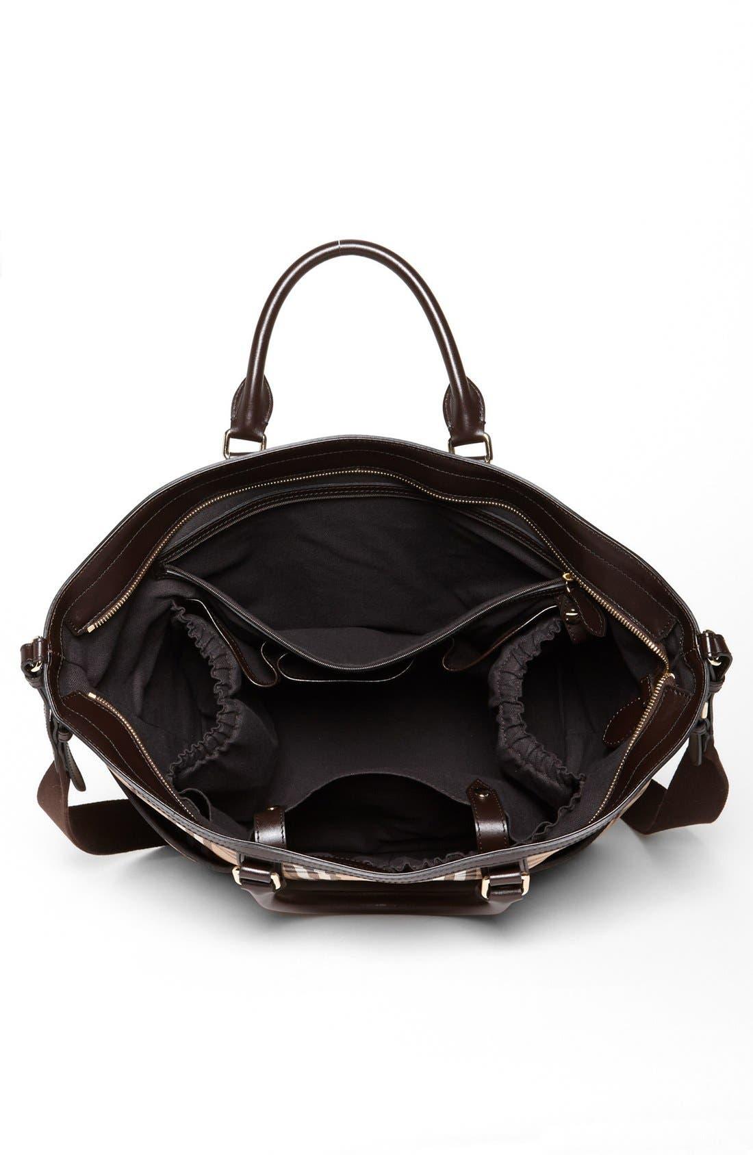 Alternate Image 3  - Burberry Check Diaper Bag