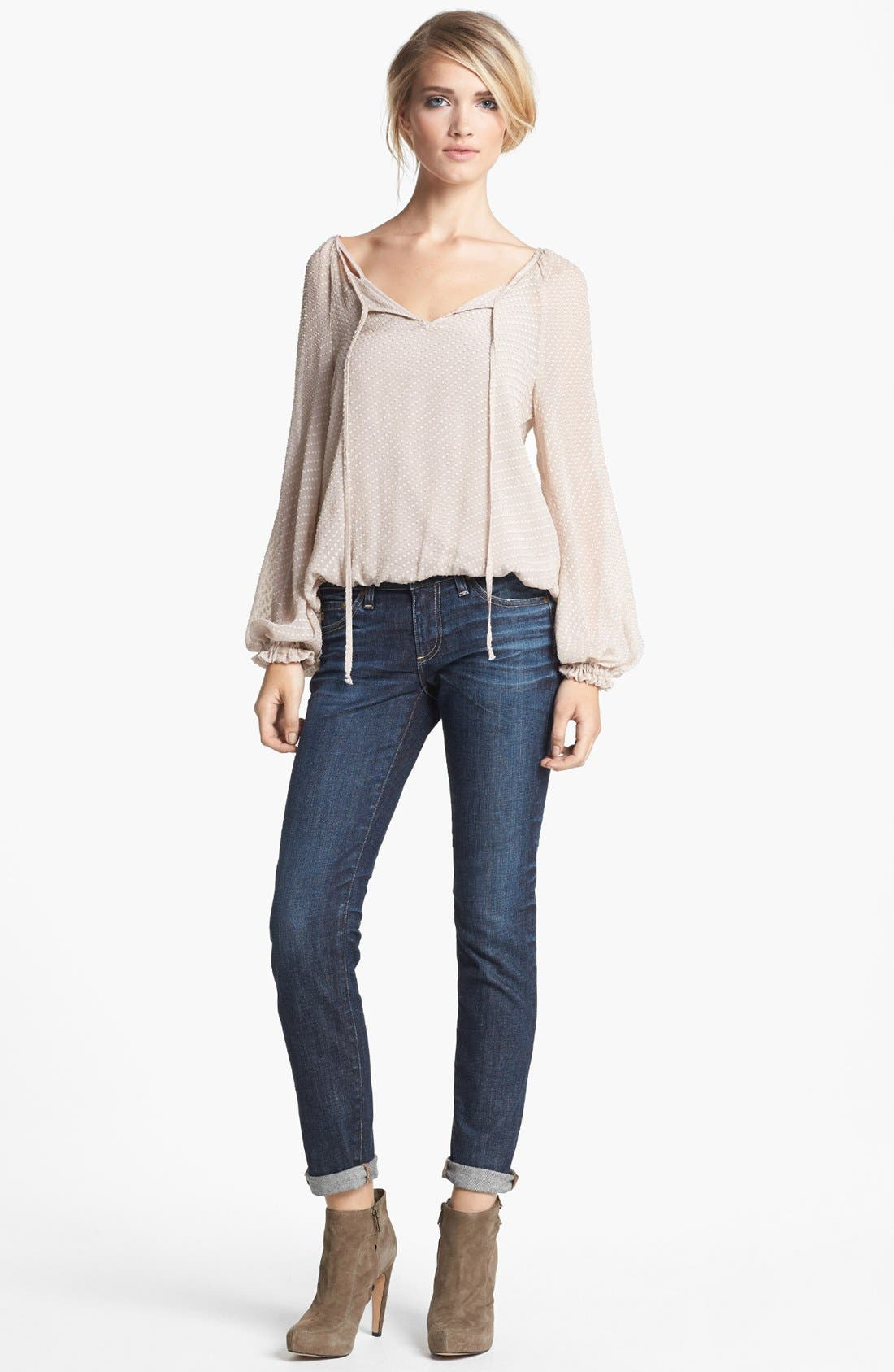 Alternate Image 1 Selected - Ella Moss Top & AG Jeans Relaxed Jeans