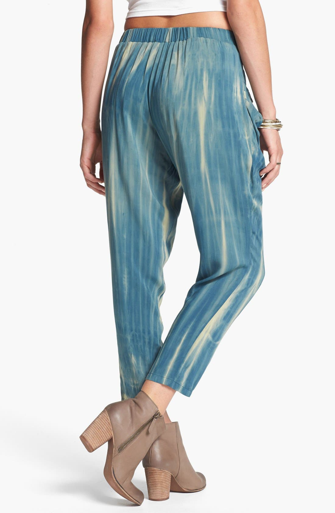 Alternate Image 2  - Blu Pepper Tie Dye Slouchy Pants (Juniors) (Online Only)