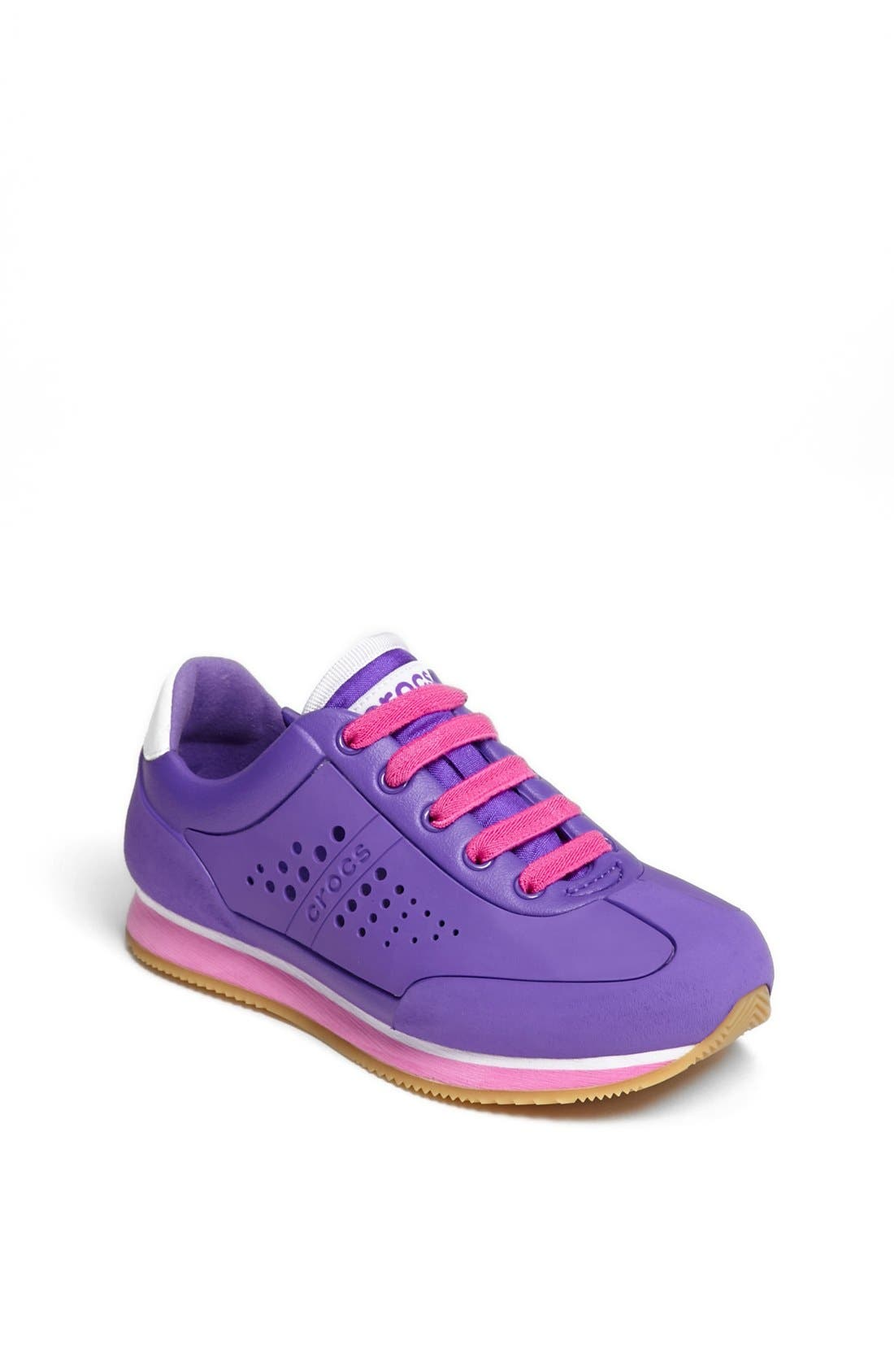 Alternate Image 1 Selected - CROCS™ 'Retro' Sneaker (Little Kid & Big Kid)