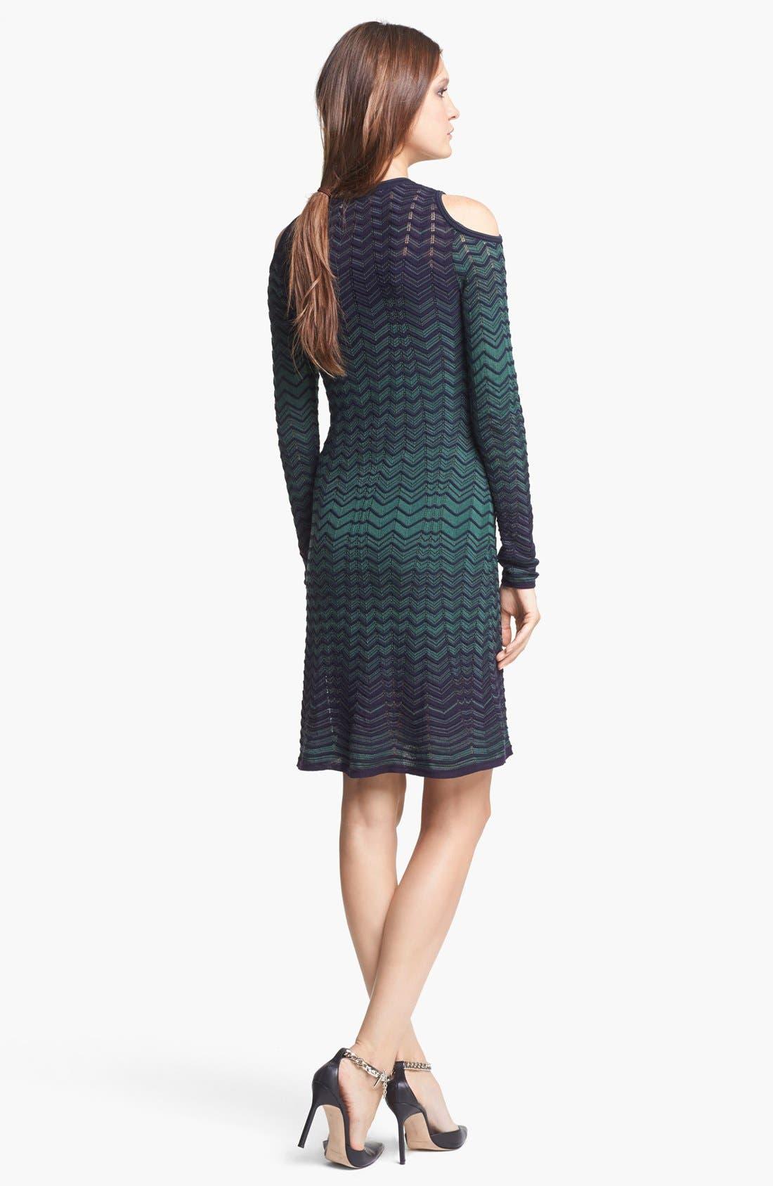 Alternate Image 2  - M Missoni Cold Shoulder Zigzag Knit Dress