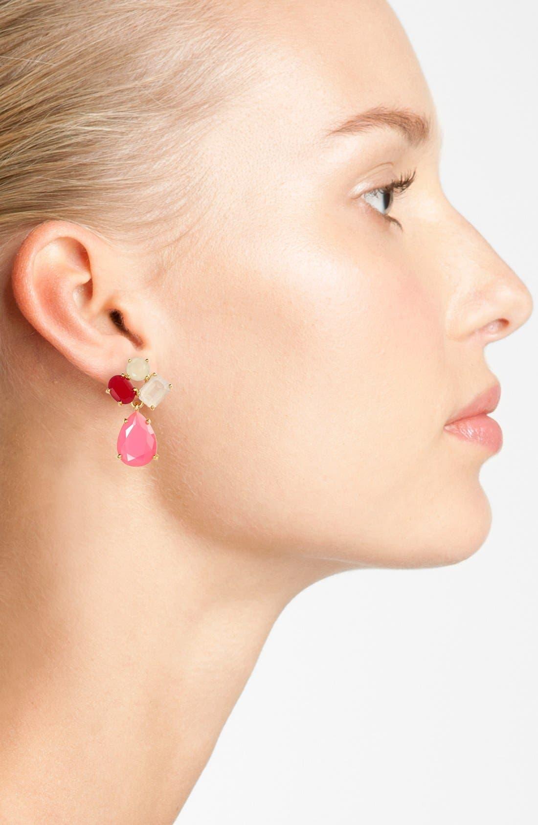 Alternate Image 2  - kate spade new york cluster drop earrings