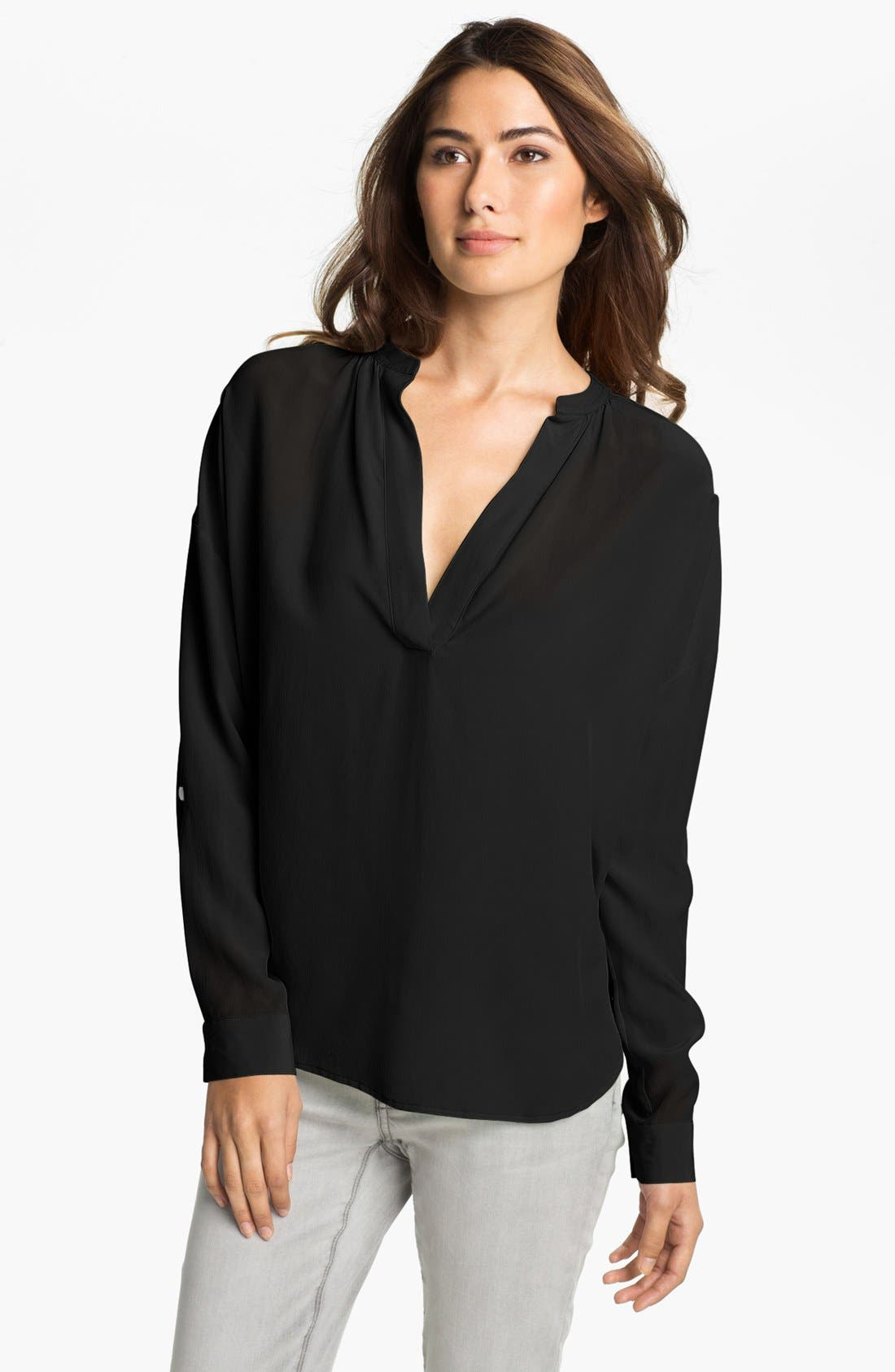 Alternate Image 1 Selected - Two by Vince Camuto Split Neck Tunic Blouse
