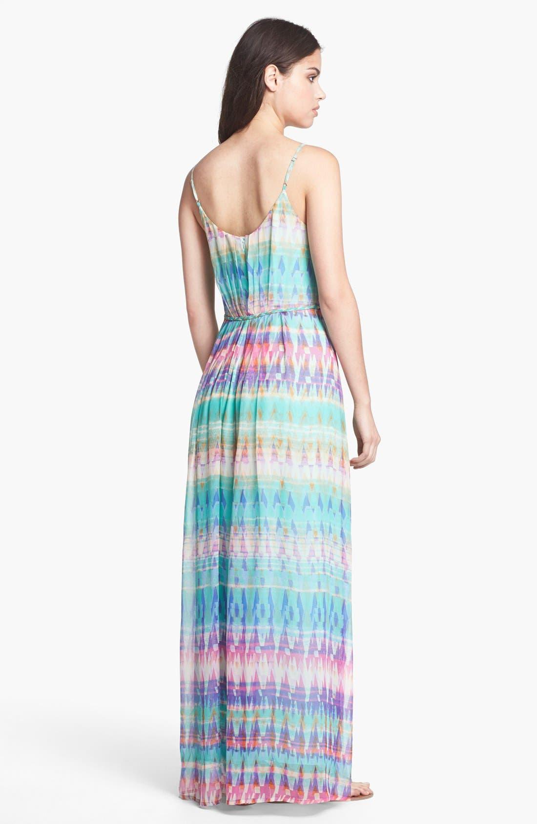 Alternate Image 2  - Presley Skye Print Silk Maxi Dress