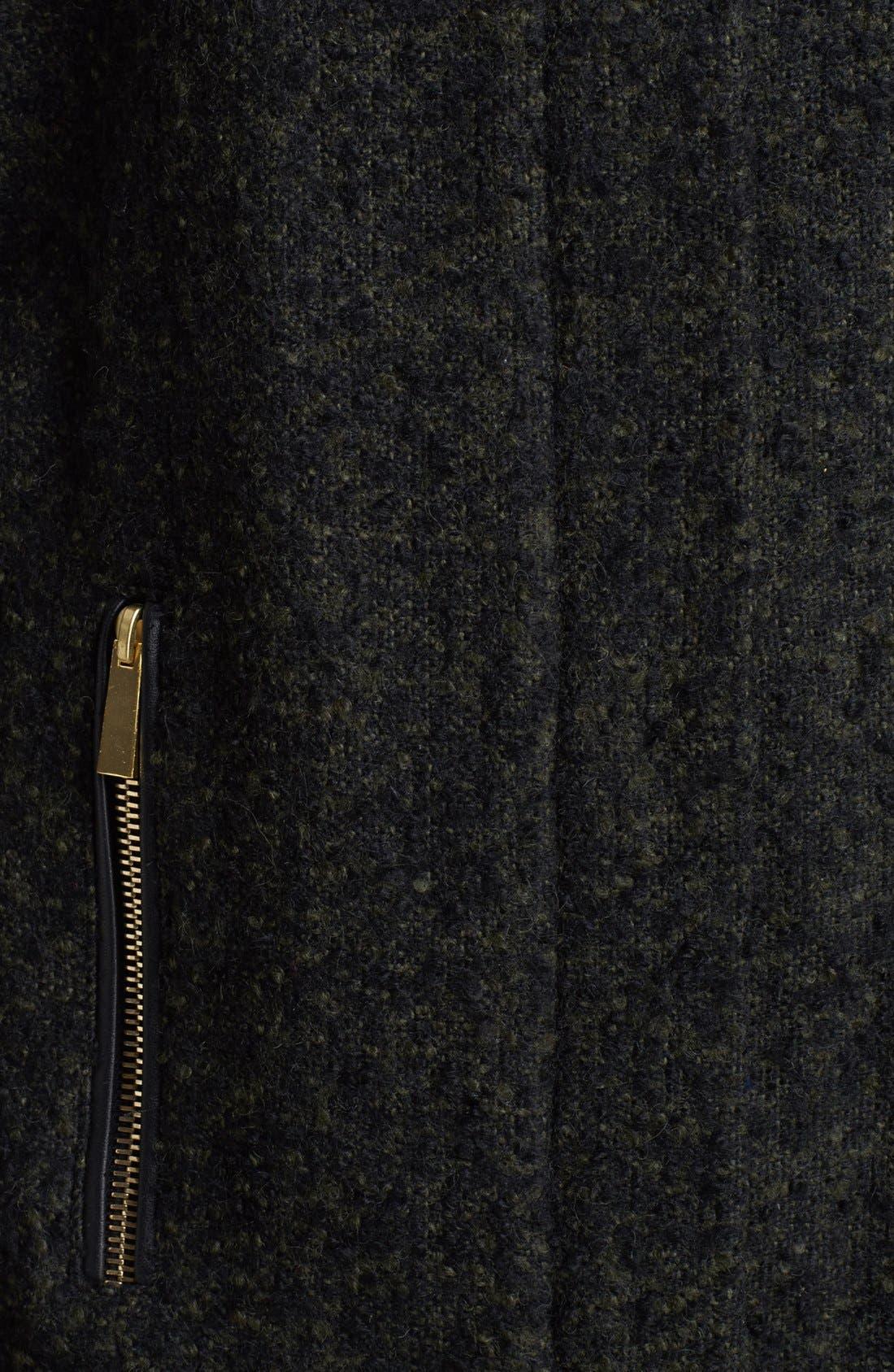 Alternate Image 3  - Vince Camuto Faux Leather Sleeve Bouclé Tweed Coat