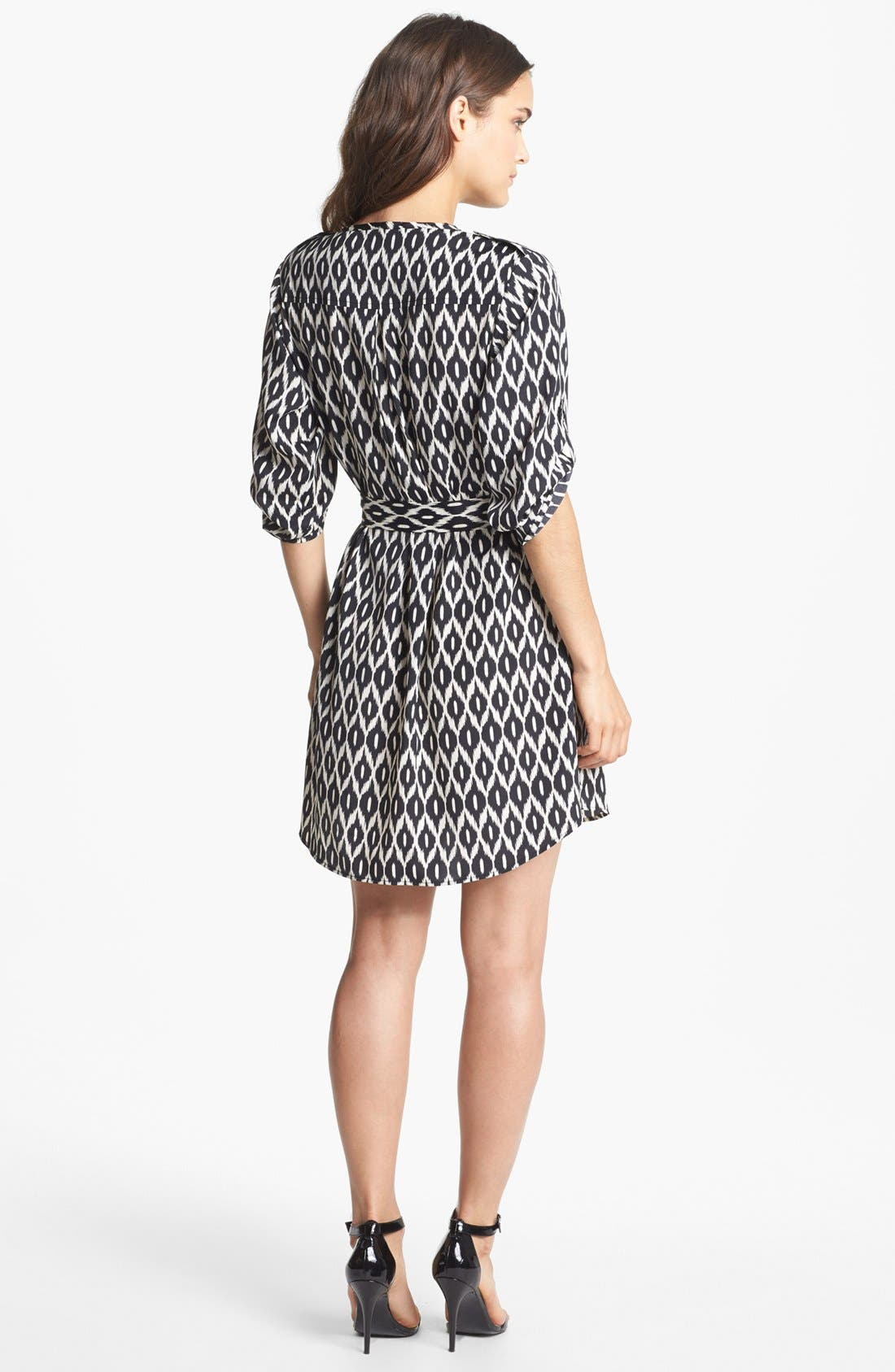 Alternate Image 2  - Collective Concepts Roll Sleeve Shirtdress