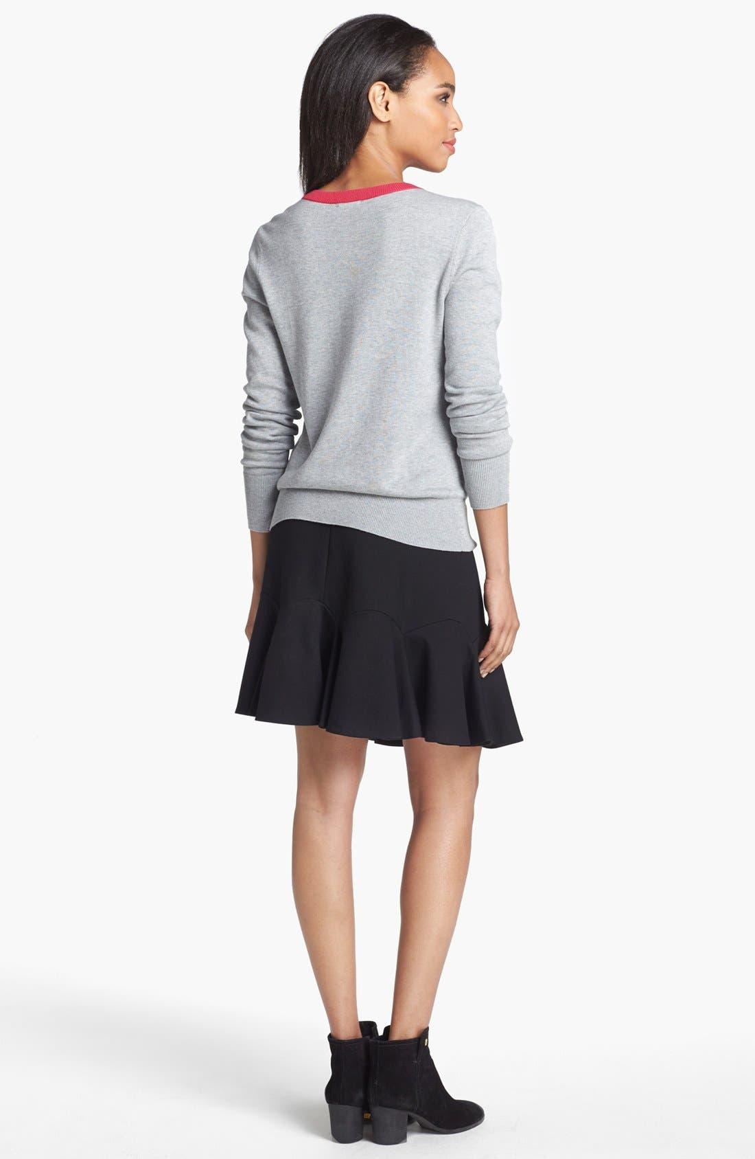 Alternate Image 5  - Vince Camuto Fluted Miniskirt