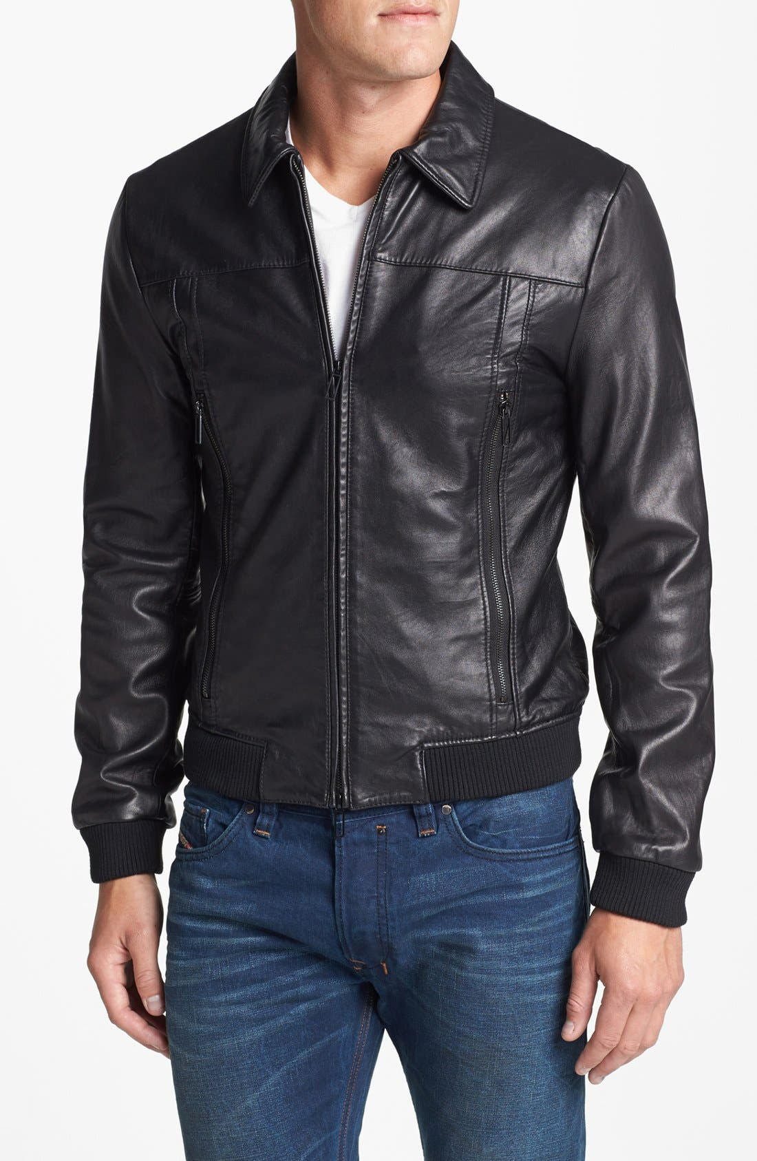 Alternate Image 1 Selected - 7 Diamonds 'Spyder' Leather Jacket