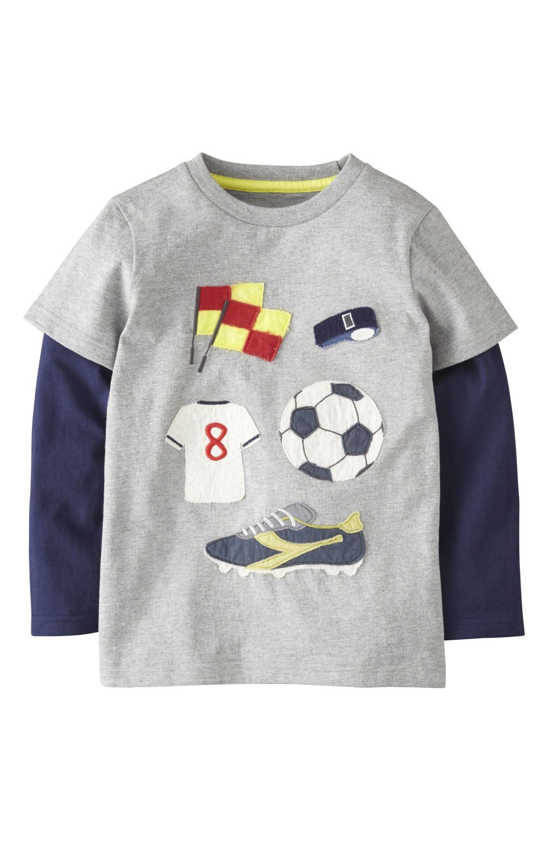 Alternate Image 1 Selected - Mini Boden 'Doing Stuff' Layered Sleeve T-Shirt (Little Boys & Big Boys)