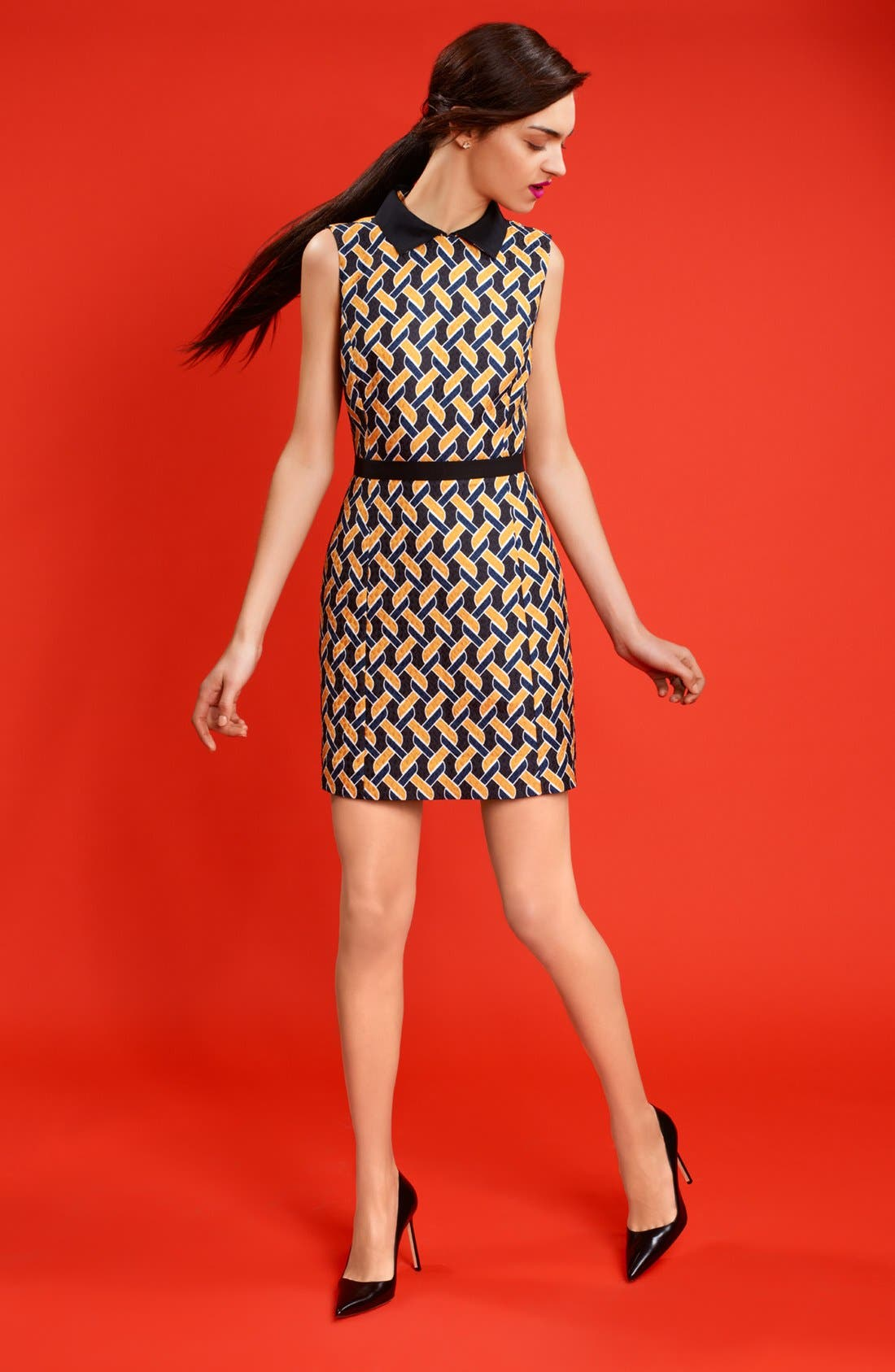 Alternate Image 4  - Miss Wu Abstract Chain Jacquard Dress (Nordstrom Exclusive)