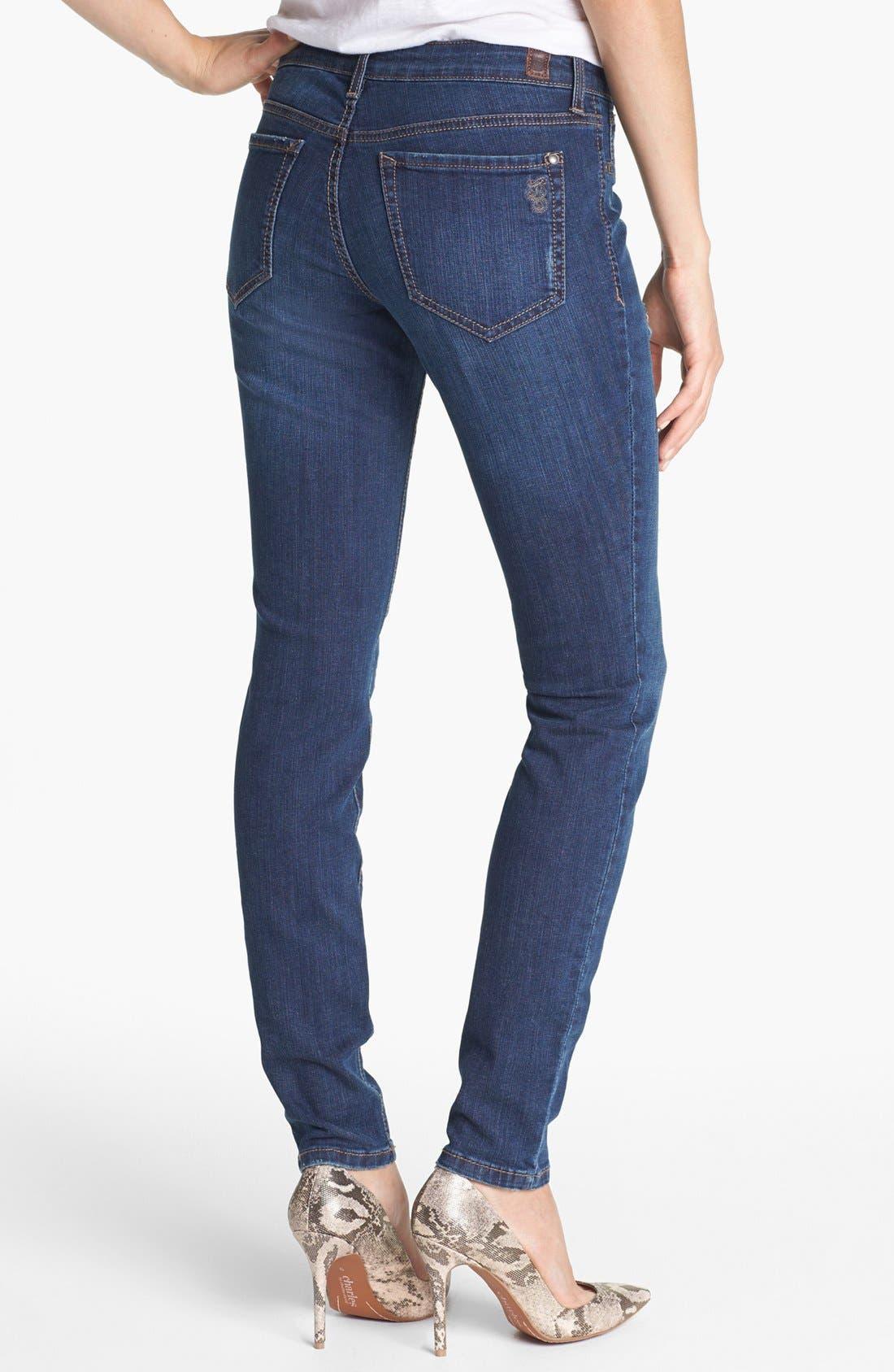 Alternate Image 2  - Jessica Simpson 'Kiss Me' Deconstructed Skinny Jeans (Bing Bang)