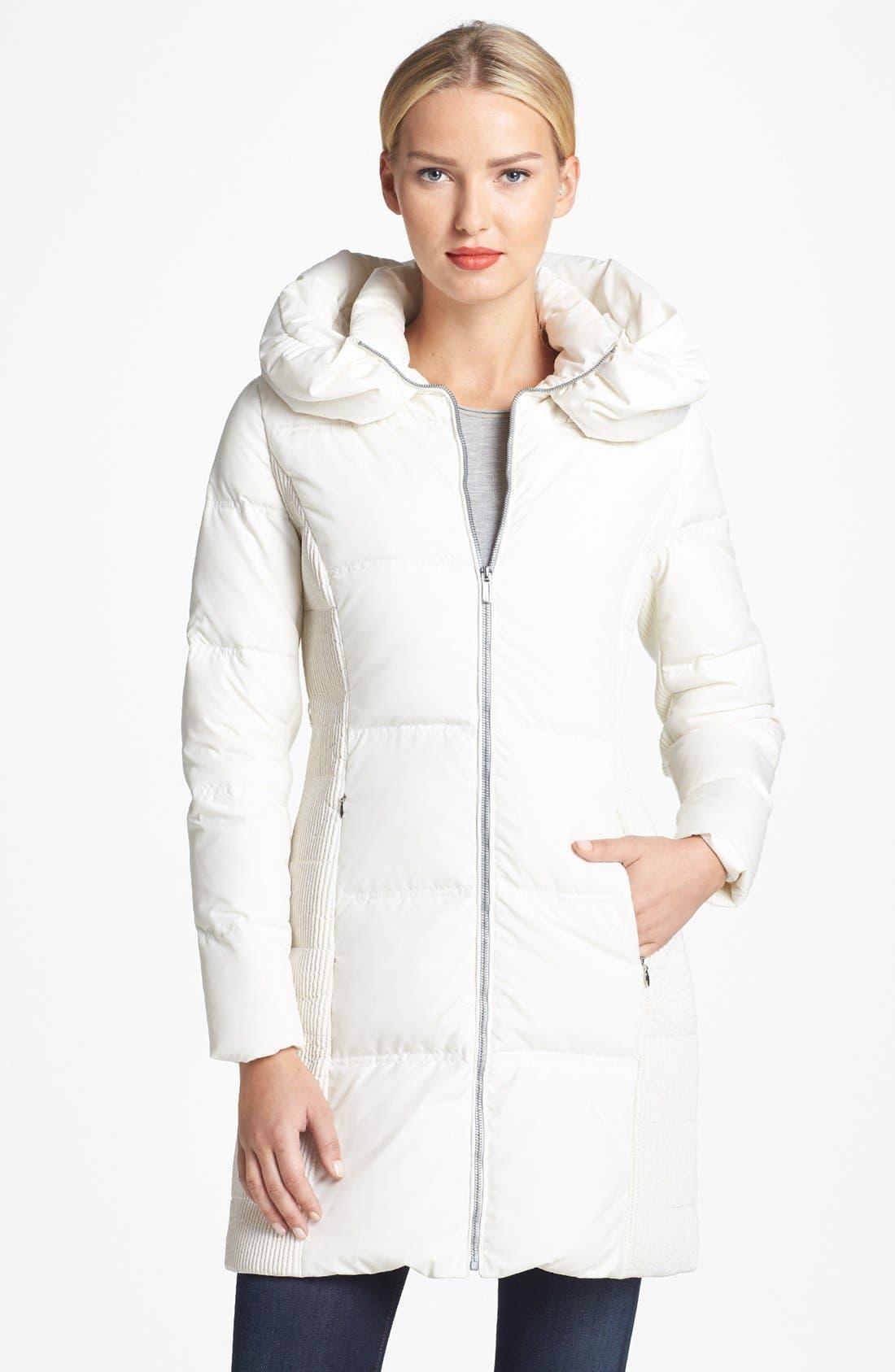 Alternate Image 4  - BCBGMAXAZRIA Genuine Rabbit Fur Trim Hooded Down Coat