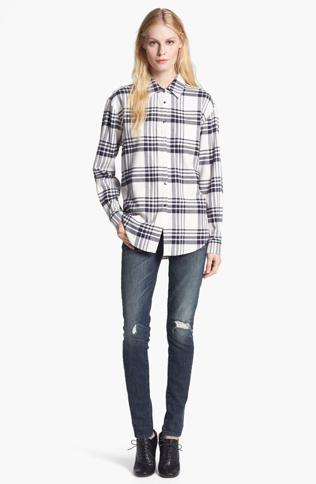 Alternate Image 2  - Elizabeth and James 'Pam' Plaid Flannel Shirt
