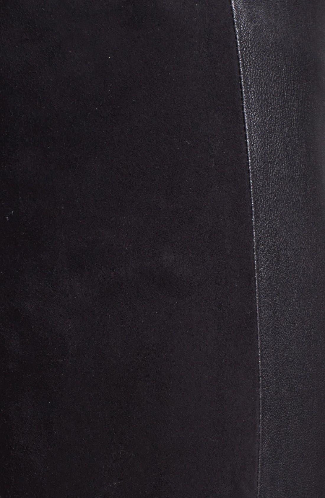 Alternate Image 3  - Vince Leather & Suede Contrast Leggings