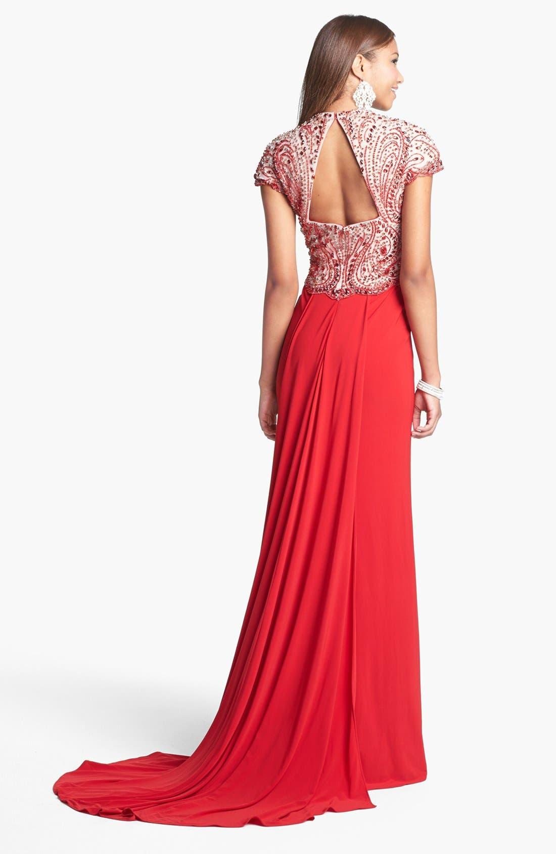 Alternate Image 2  - Sherri Hill Embellished Bodice Jersey Gown