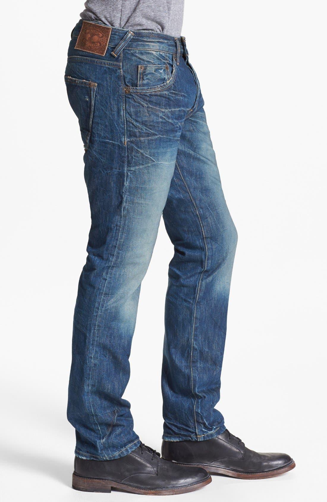 Alternate Image 3  - Natural Selection Denim Narrow Slim Straight Leg Jeans (Saddle)