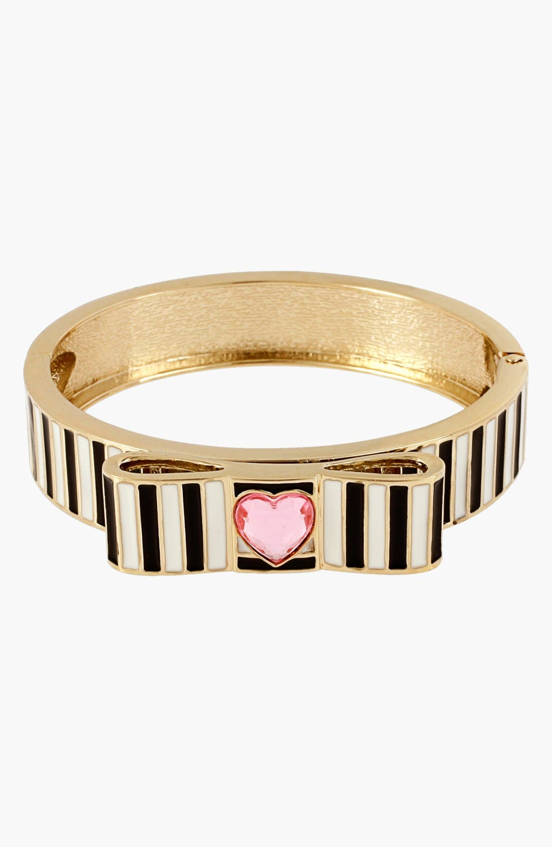 Main Image - Betsey Johnson 'Paris' Stripe Hinged Bangle