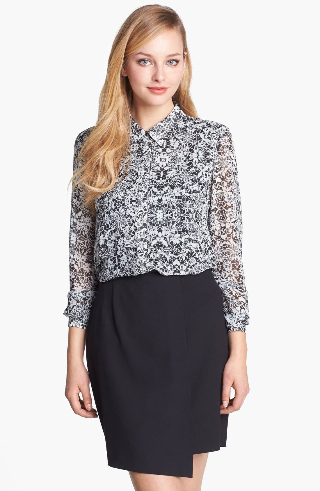 Alternate Image 1 Selected - Vince Camuto Lace Print Blouse