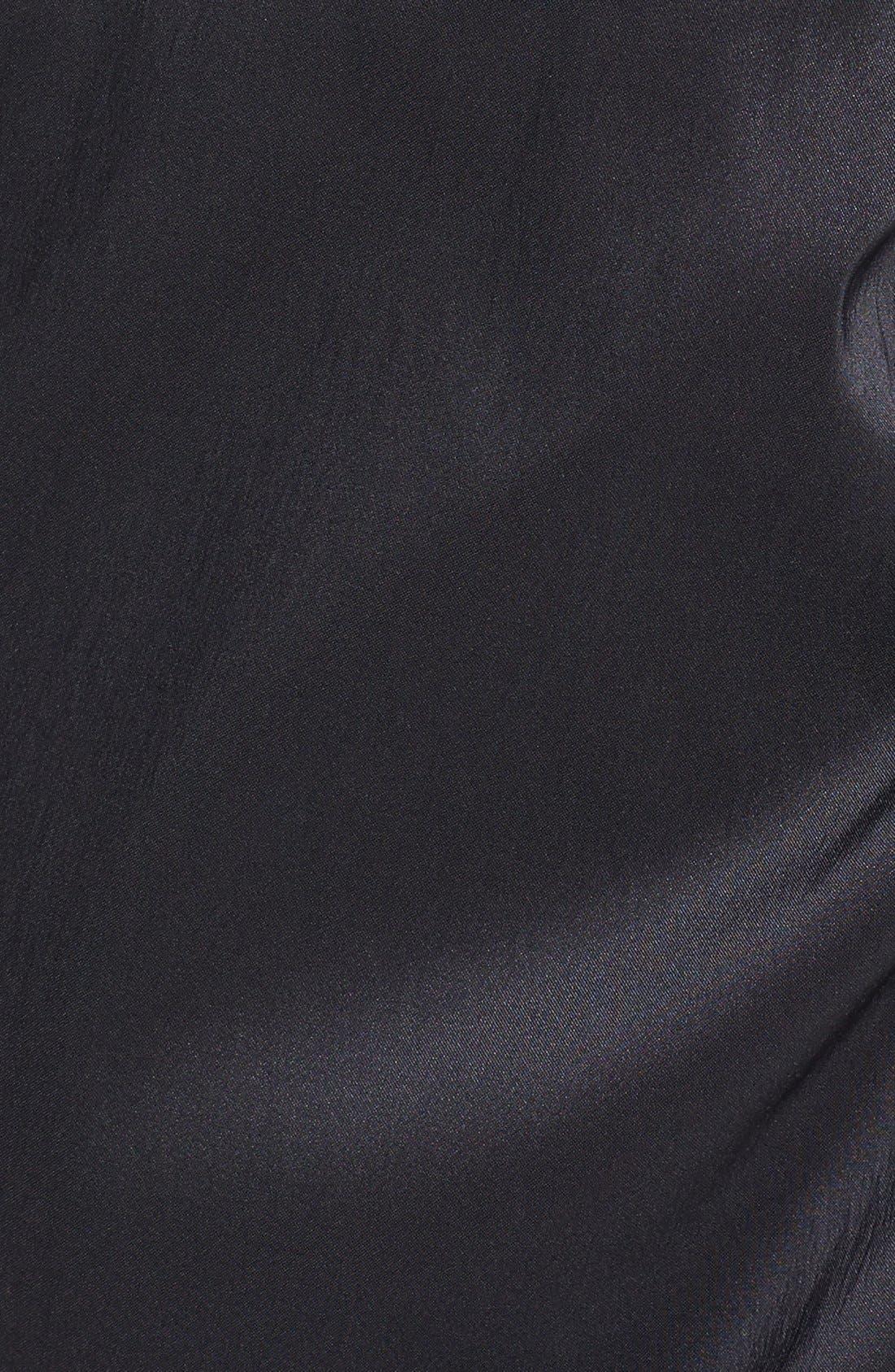 Alternate Image 3  - Maggy London Metallic Lace & Draped Taffeta Sheath Dress