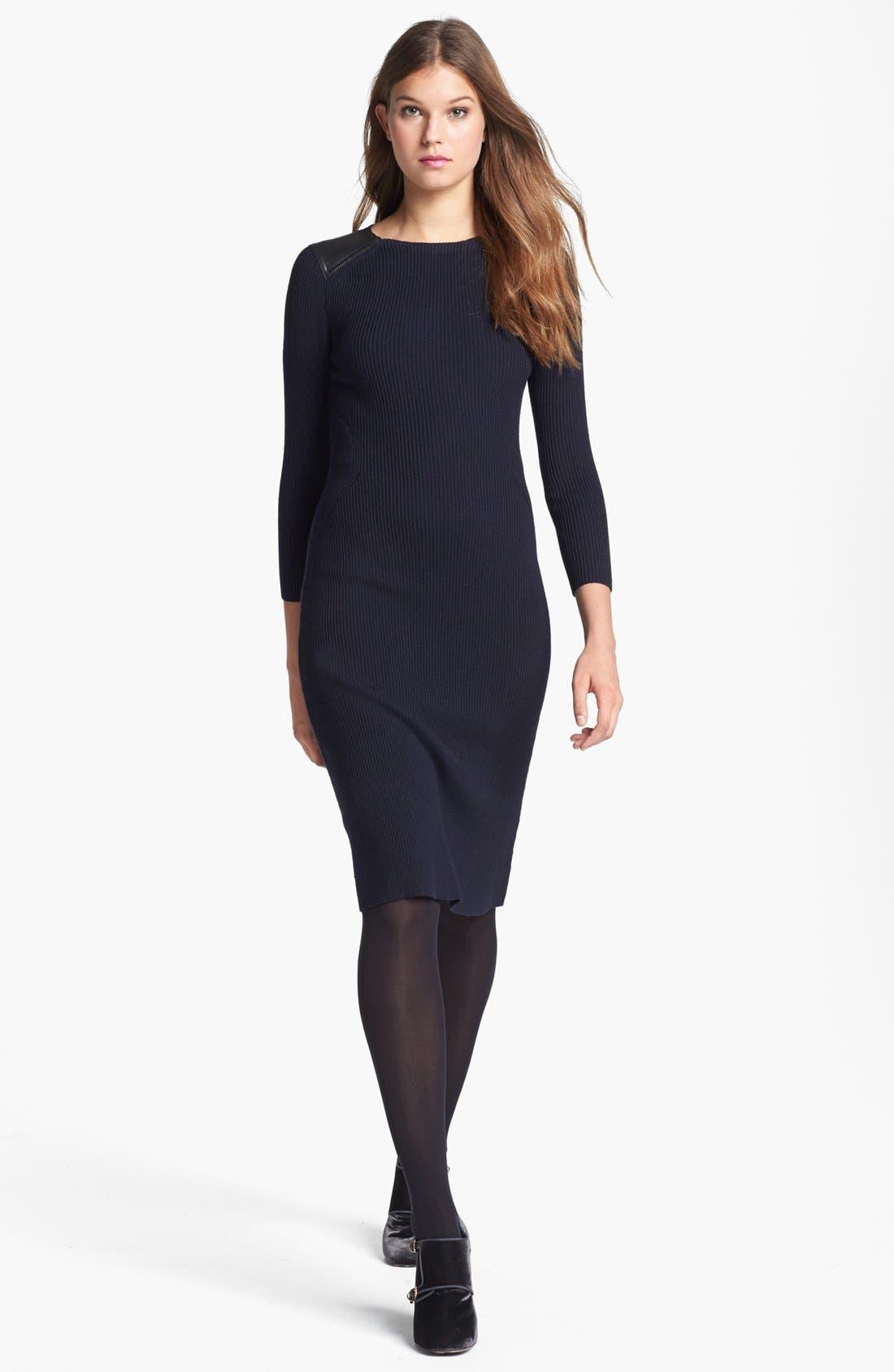 Main Image - Tory Burch 'Courtney' Merino Wool Blend Sweater Dress