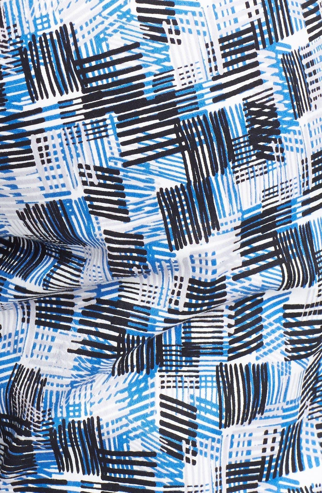 Alternate Image 5  - St. John Yellow Label 'Emma' Stamped Crosshatch Print Sateen Pants