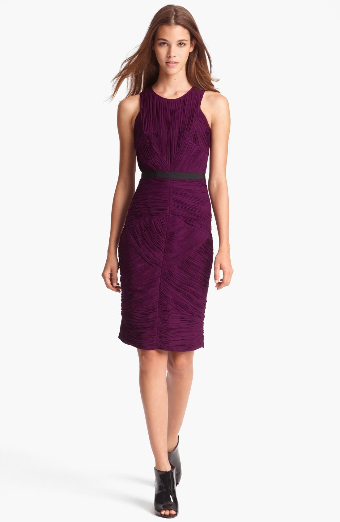 Alternate Image 1 Selected - Burberry London Pleated Crepon Dress