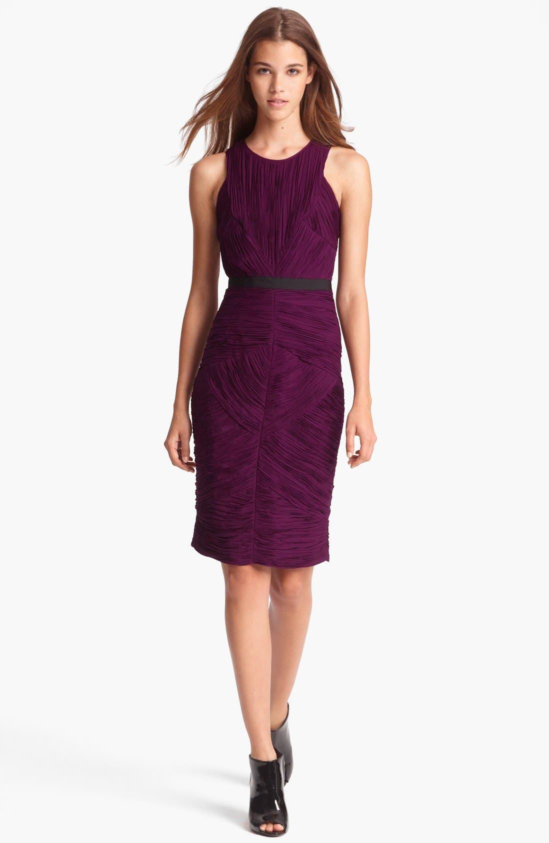 Main Image - Burberry London Pleated Crepon Dress