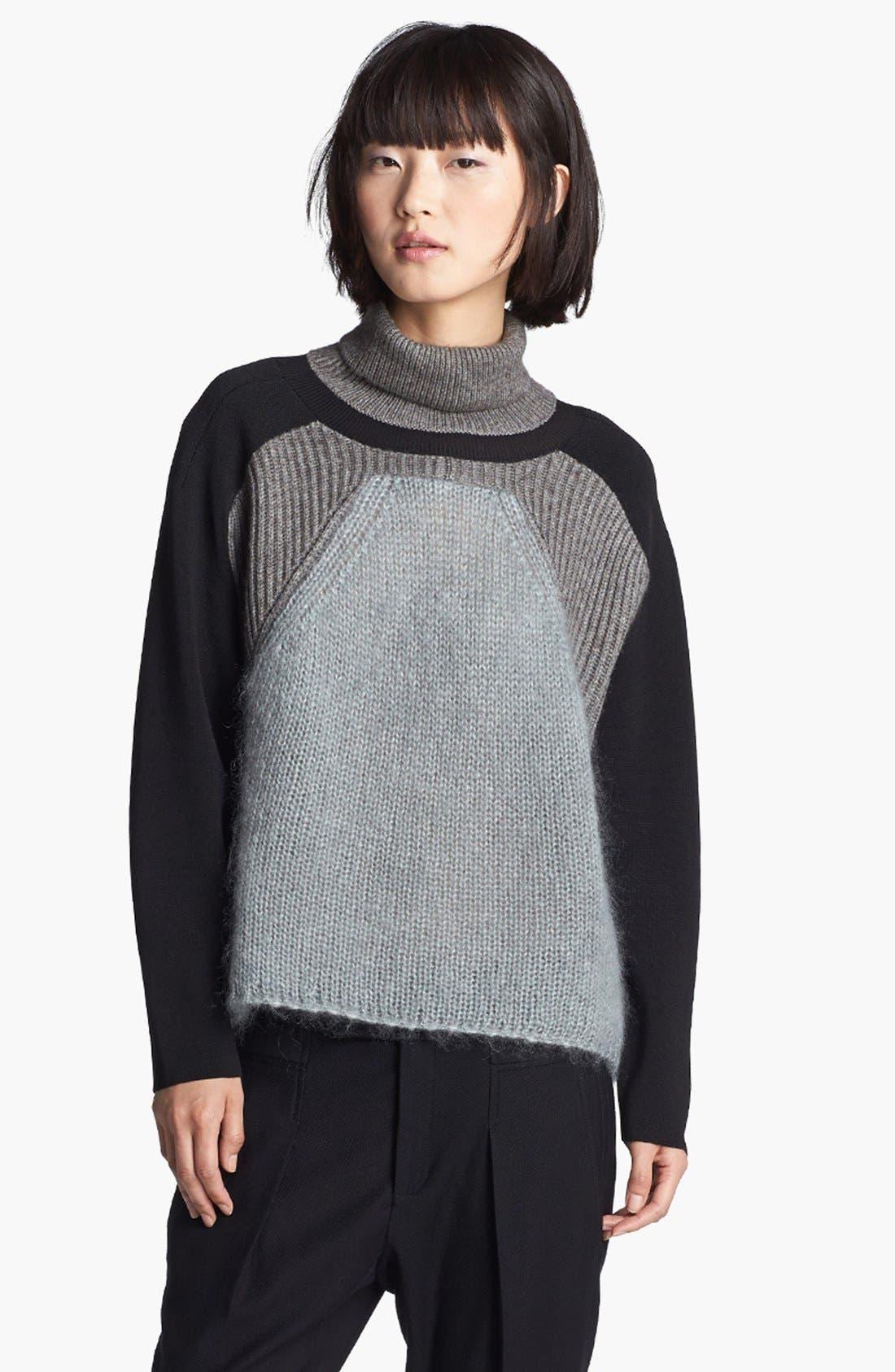 Main Image - Helmut Lang Colorblock Turtleneck Sweater